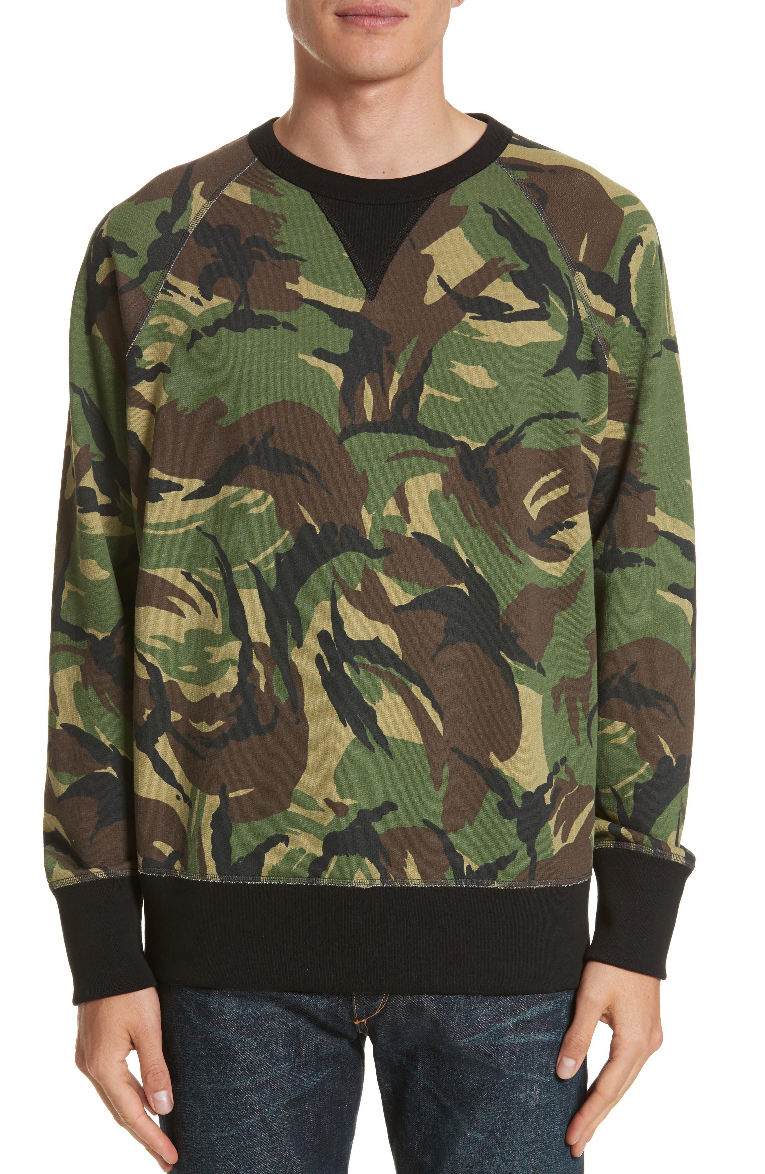 Main Image - rag & bone Camo Sweatshirt