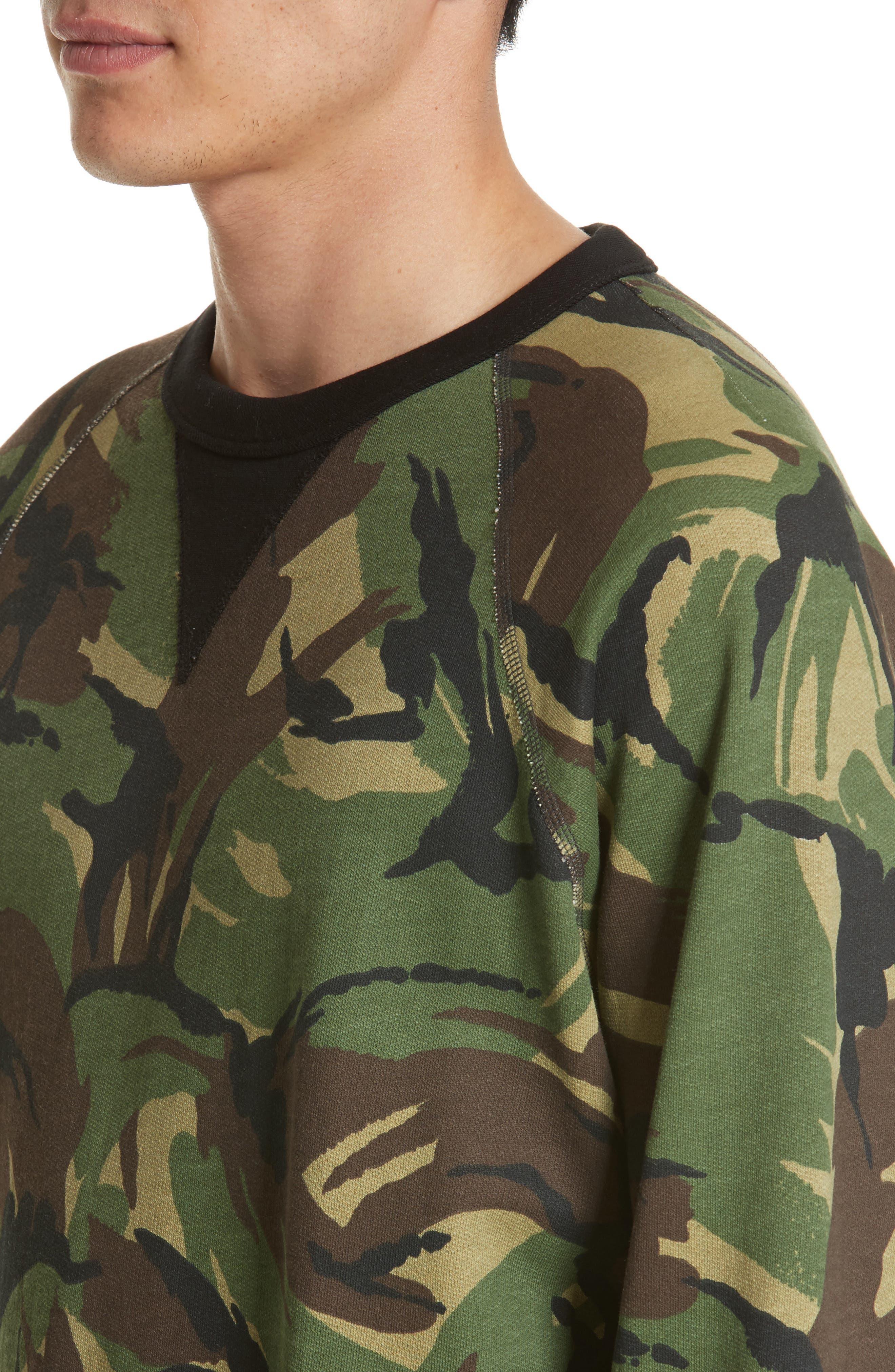 Alternate Image 4  - rag & bone Camo Sweatshirt