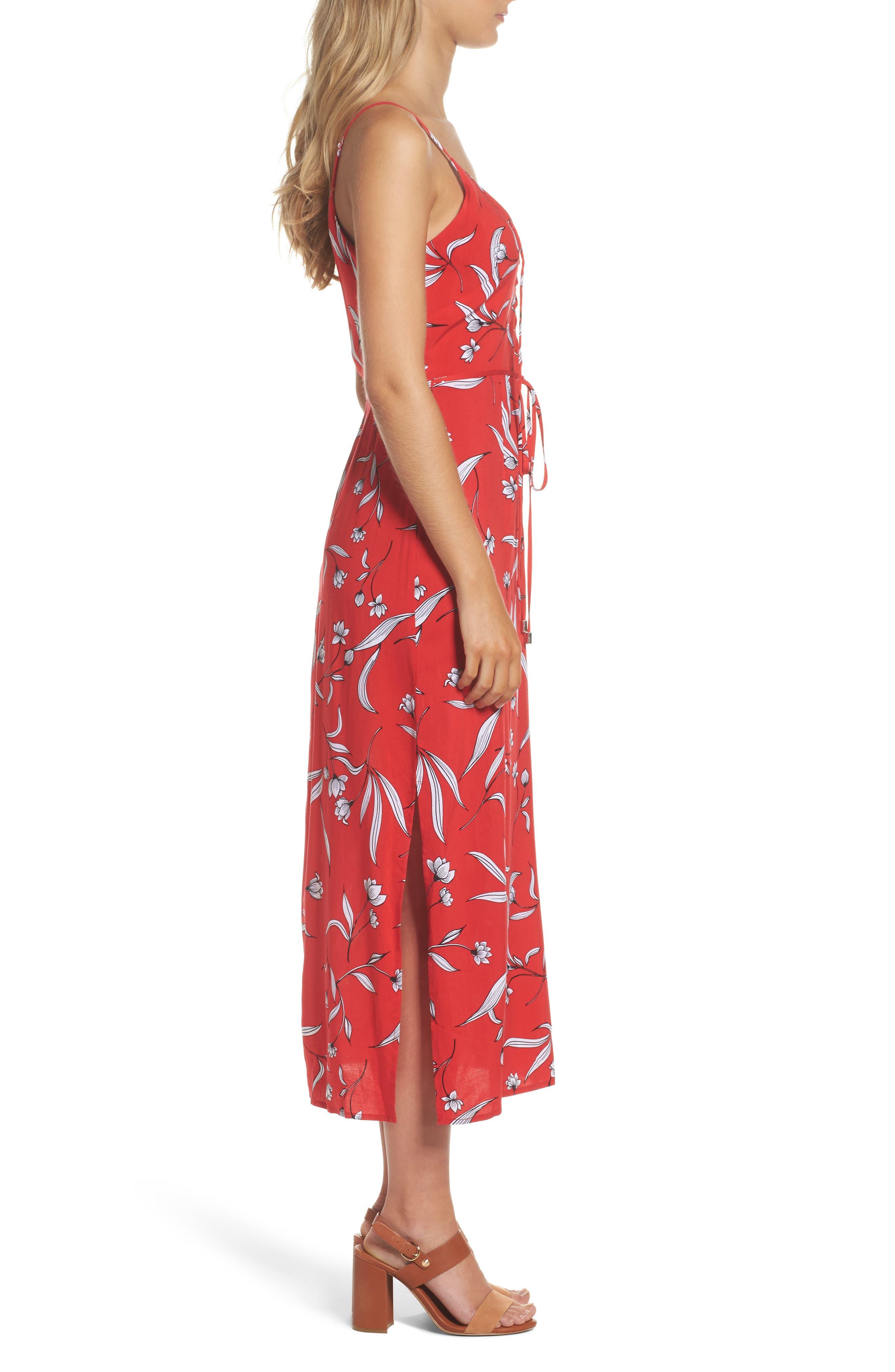 Amelia Floral Dress,                             Alternate thumbnail 3, color,                             Floral Print