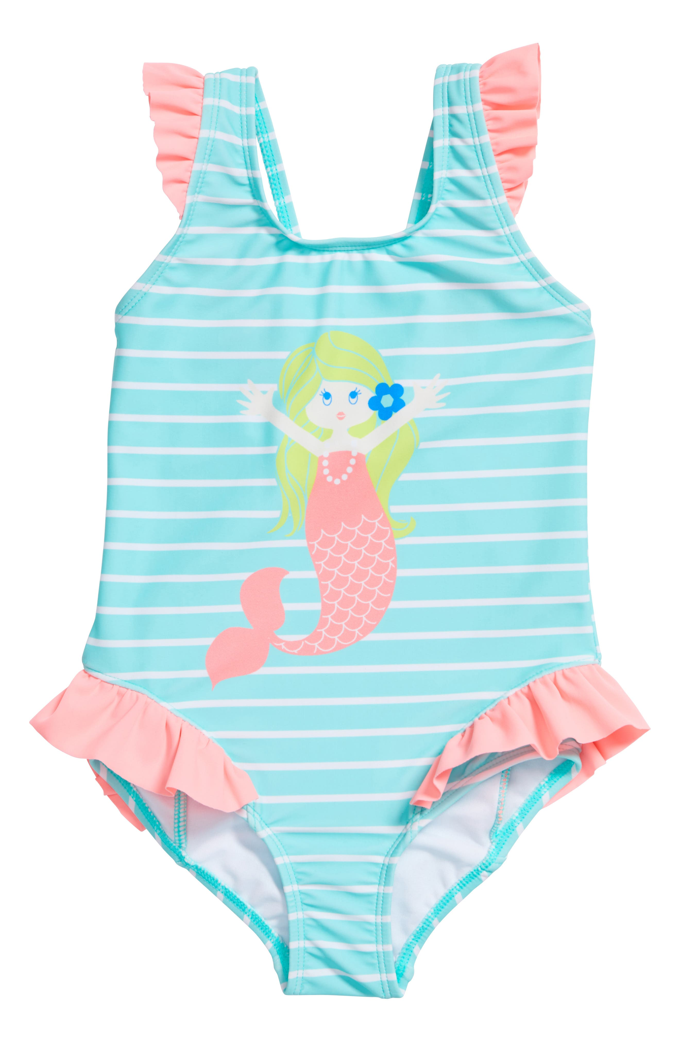 All Is Love One-Piece Swimsuit,                             Main thumbnail 1, color,                             Seafoam/ Pink