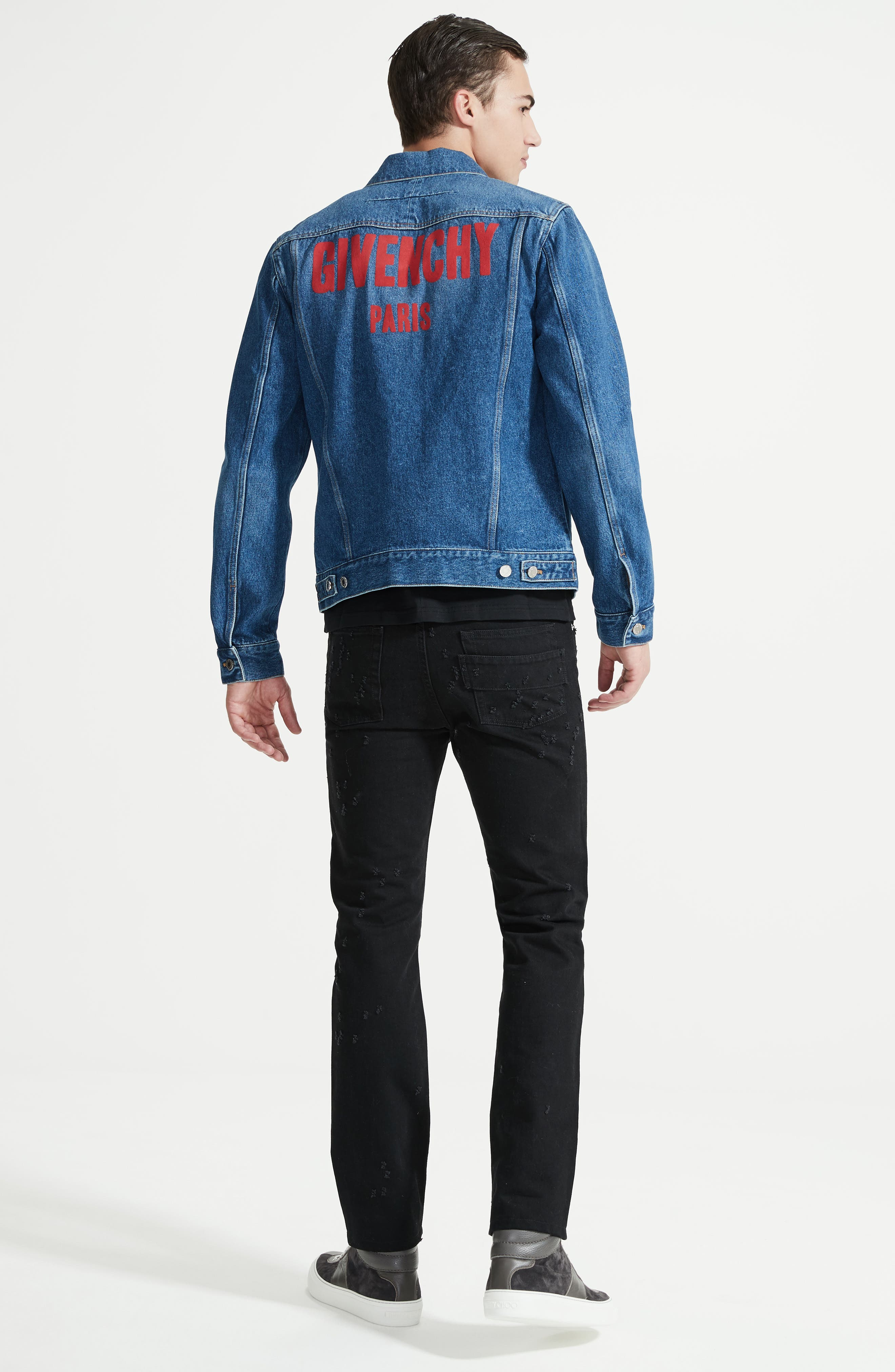 Logo Jean Jacket,                             Alternate thumbnail 6, color,                             Blue