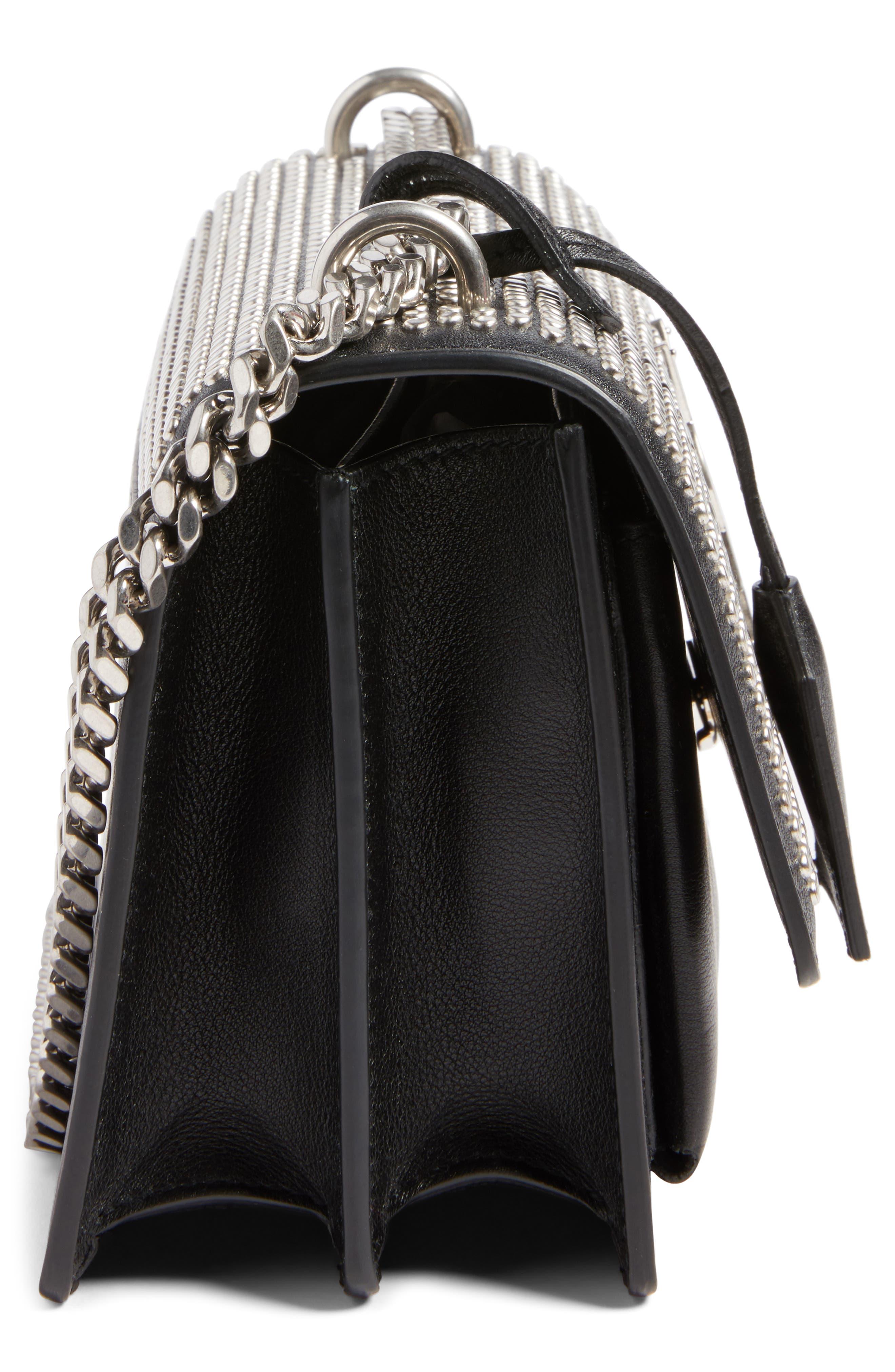 Alternate Image 4  - Saint Laurent Small Sunset Studded Leather Shoulder Bag