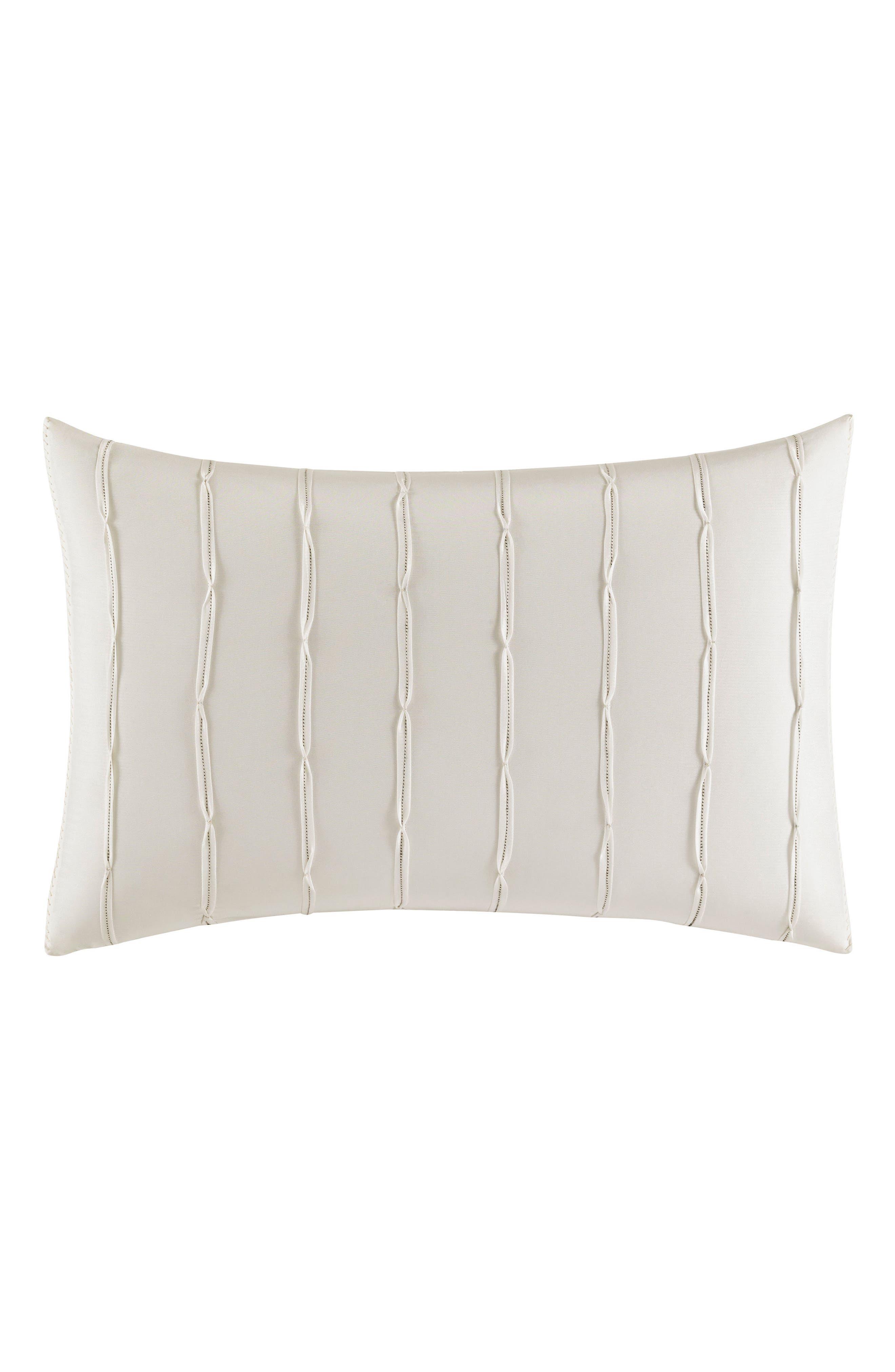 Passementerie Breakfast Silk Accent Pillow,                         Main,                         color, Natural