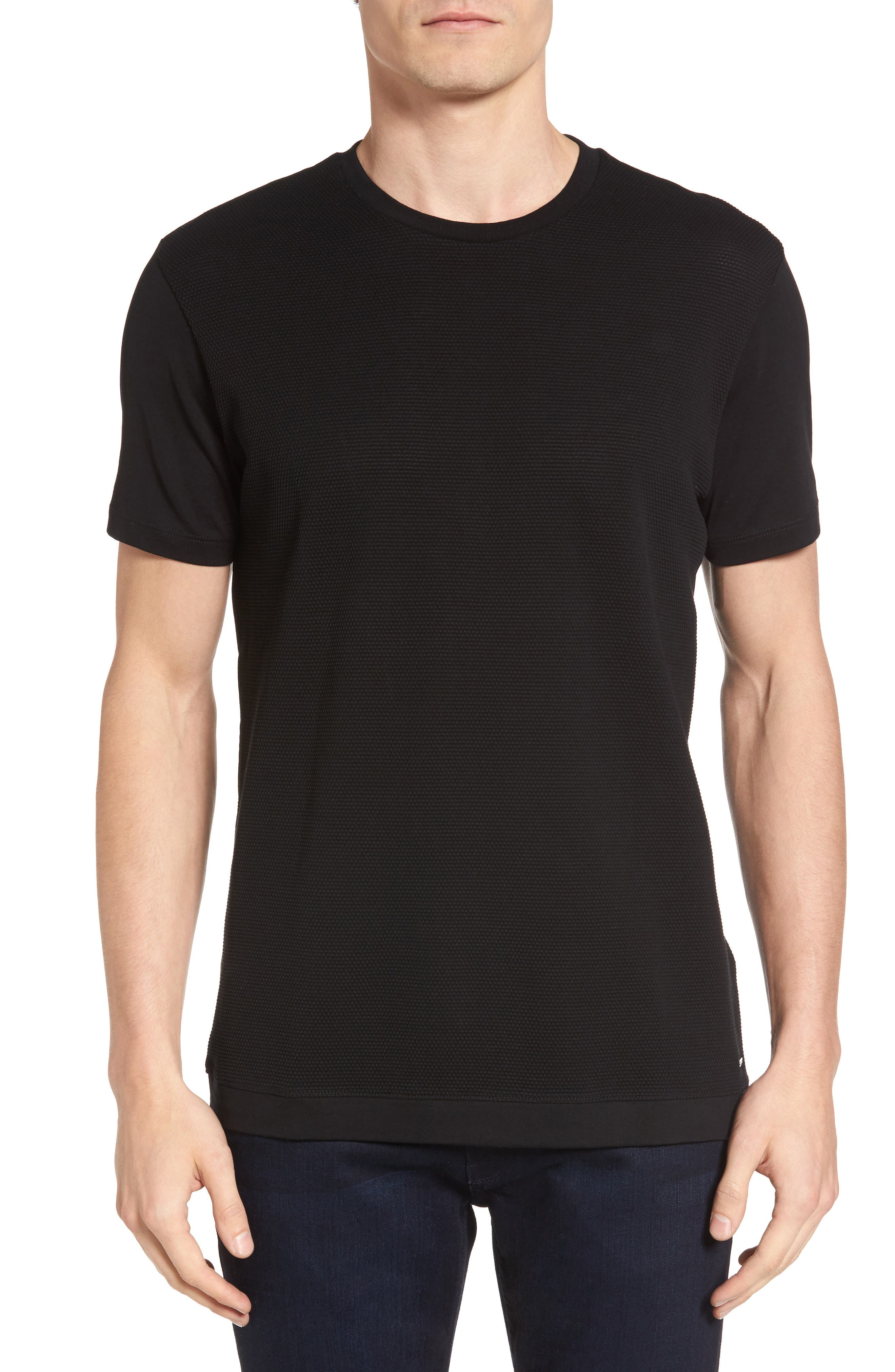 Tessler Micropattern T-Shirt,                             Main thumbnail 1, color,                             Black
