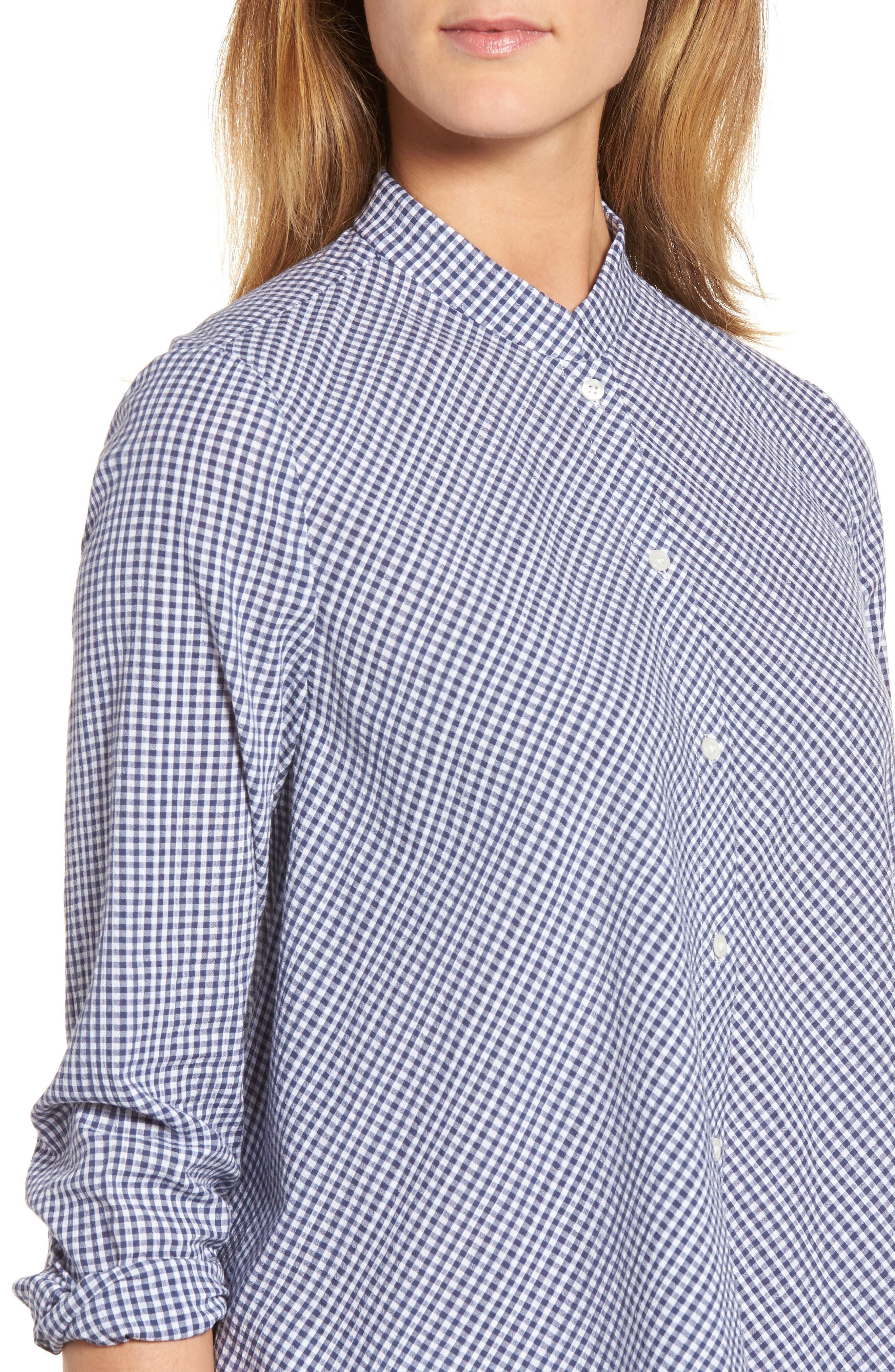 Shirt,                             Alternate thumbnail 4, color,                             Eton Blue/ Optic White