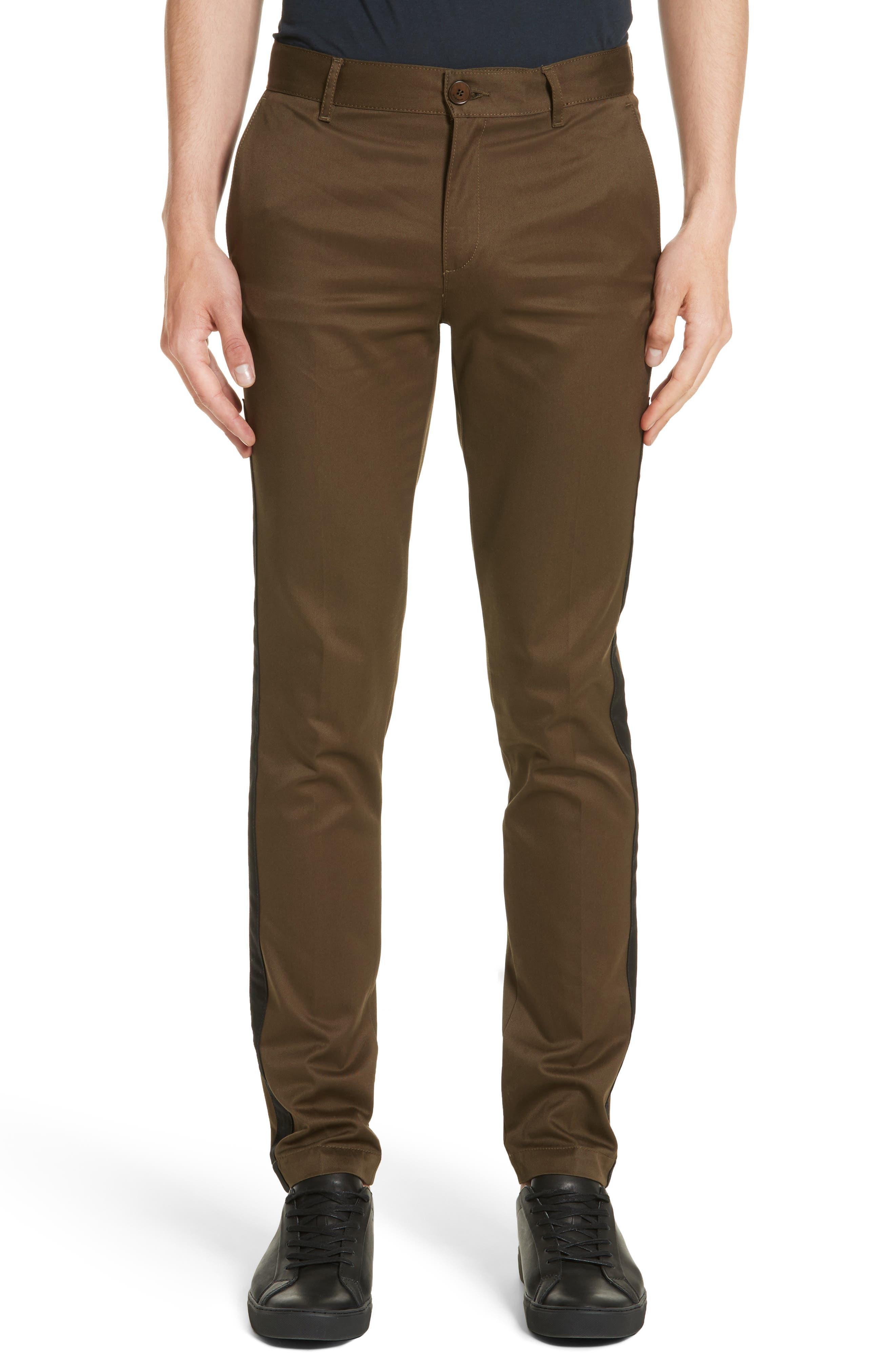 Tapered Leg Chinos,                         Main,                         color, Khaki