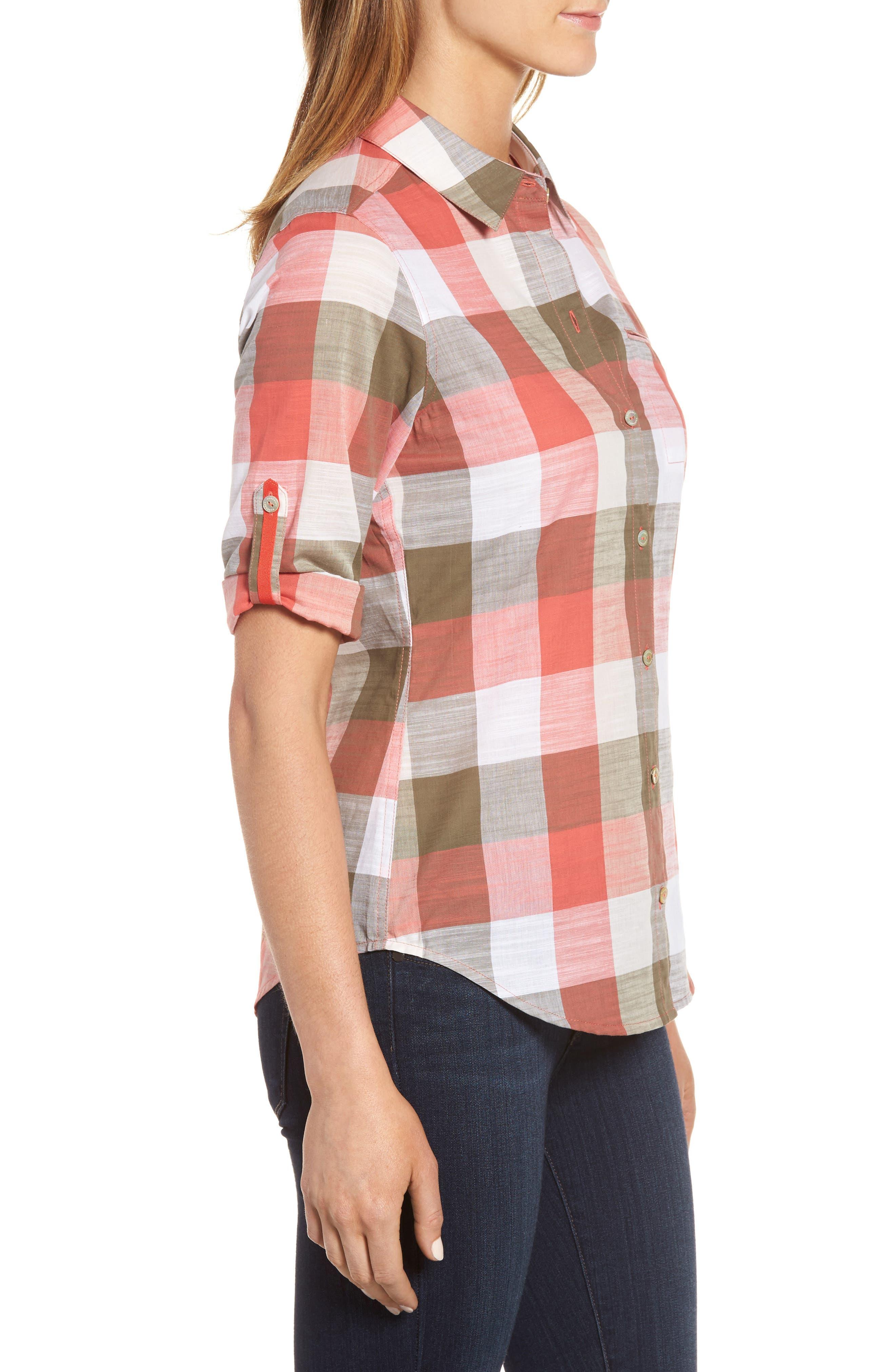 Alternate Image 3  - Foxcroft Reese Buffalo Check Shirt (Regular & Petite)