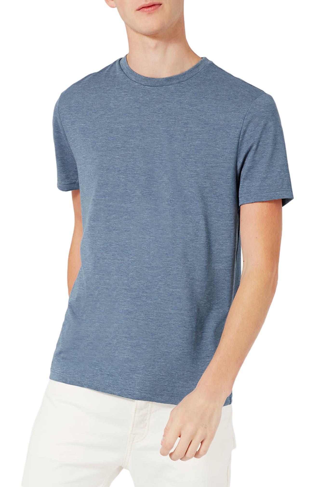 Slim Fit Crewneck T-Shirt,                         Main,                         color, Pale Blue