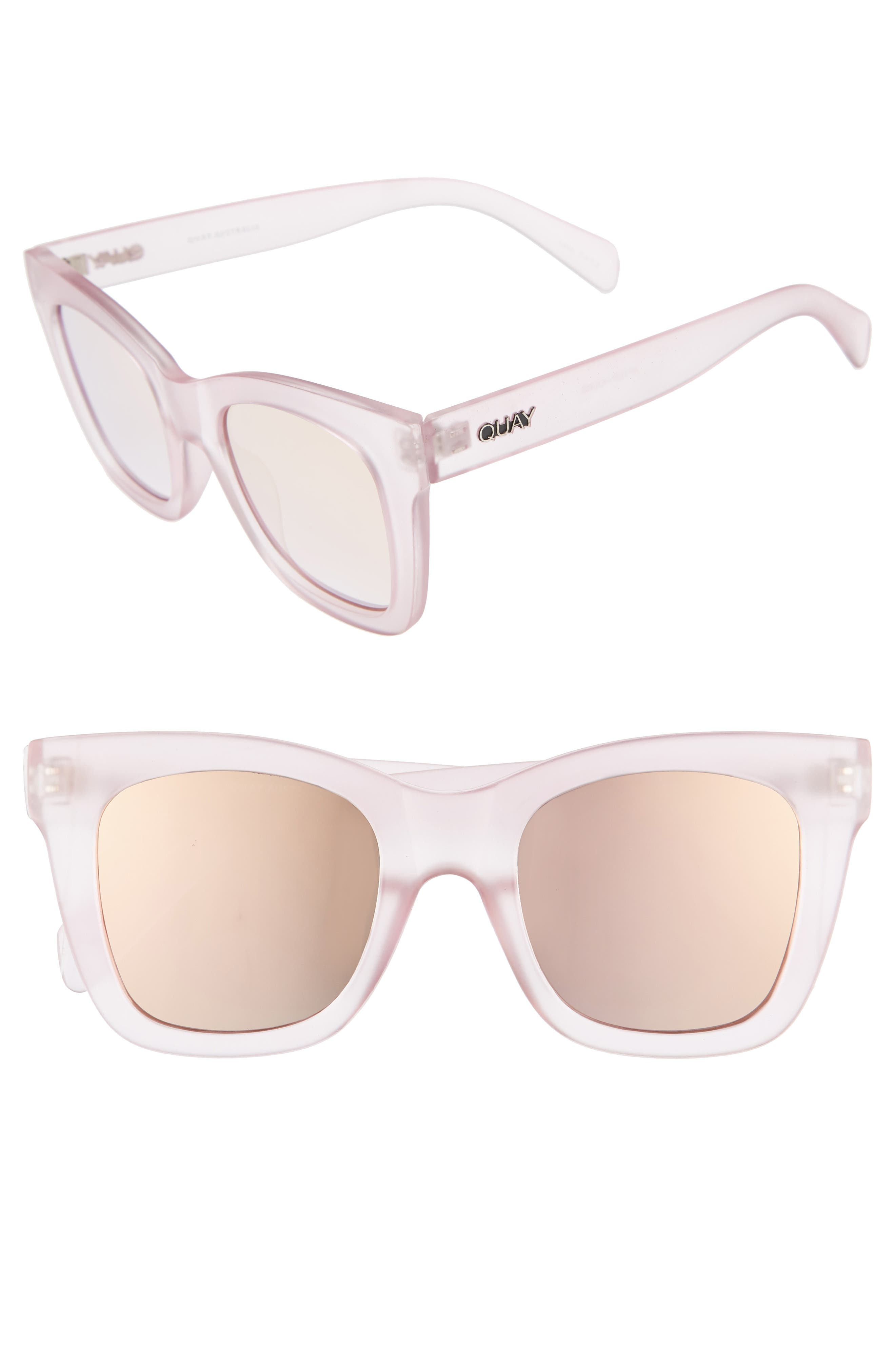 After Hours 50mm Square Sunglasses,                         Main,                         color, Pink