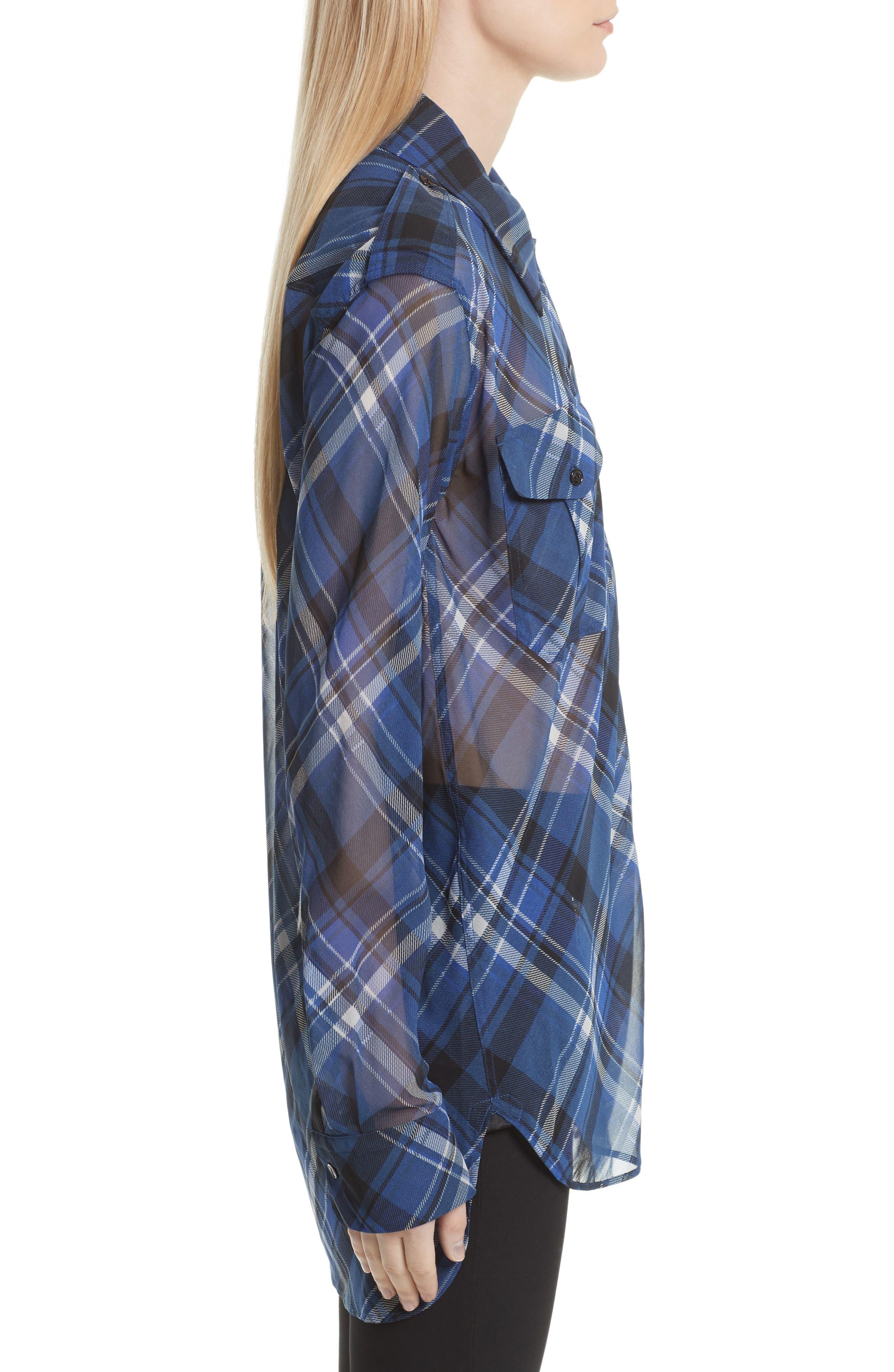Alternate Image 3  - rag & bone Mason Plaid Stretch Silk Shirt