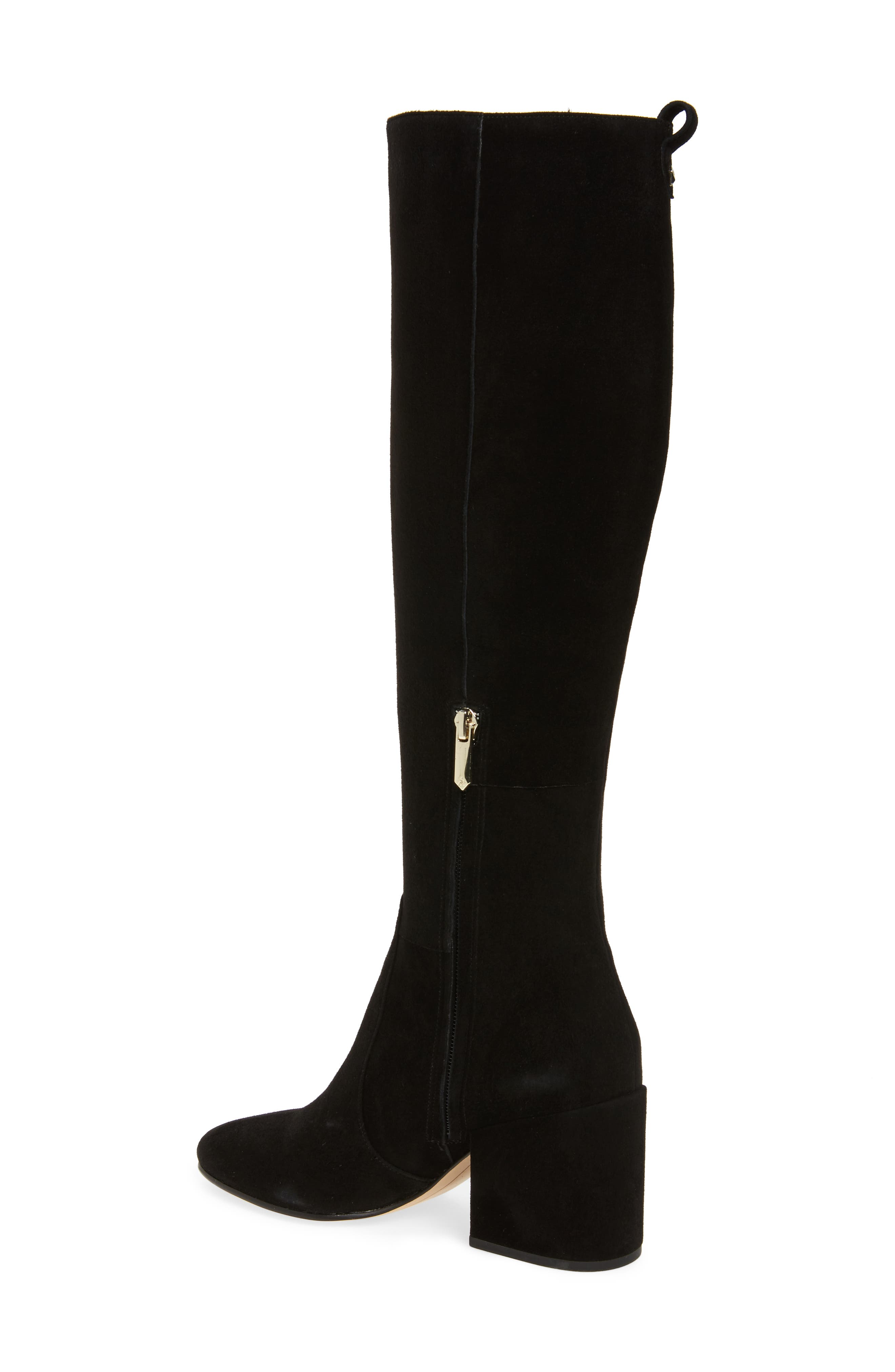 Thora Knee High Boot,                             Alternate thumbnail 2, color,                             Black Leather