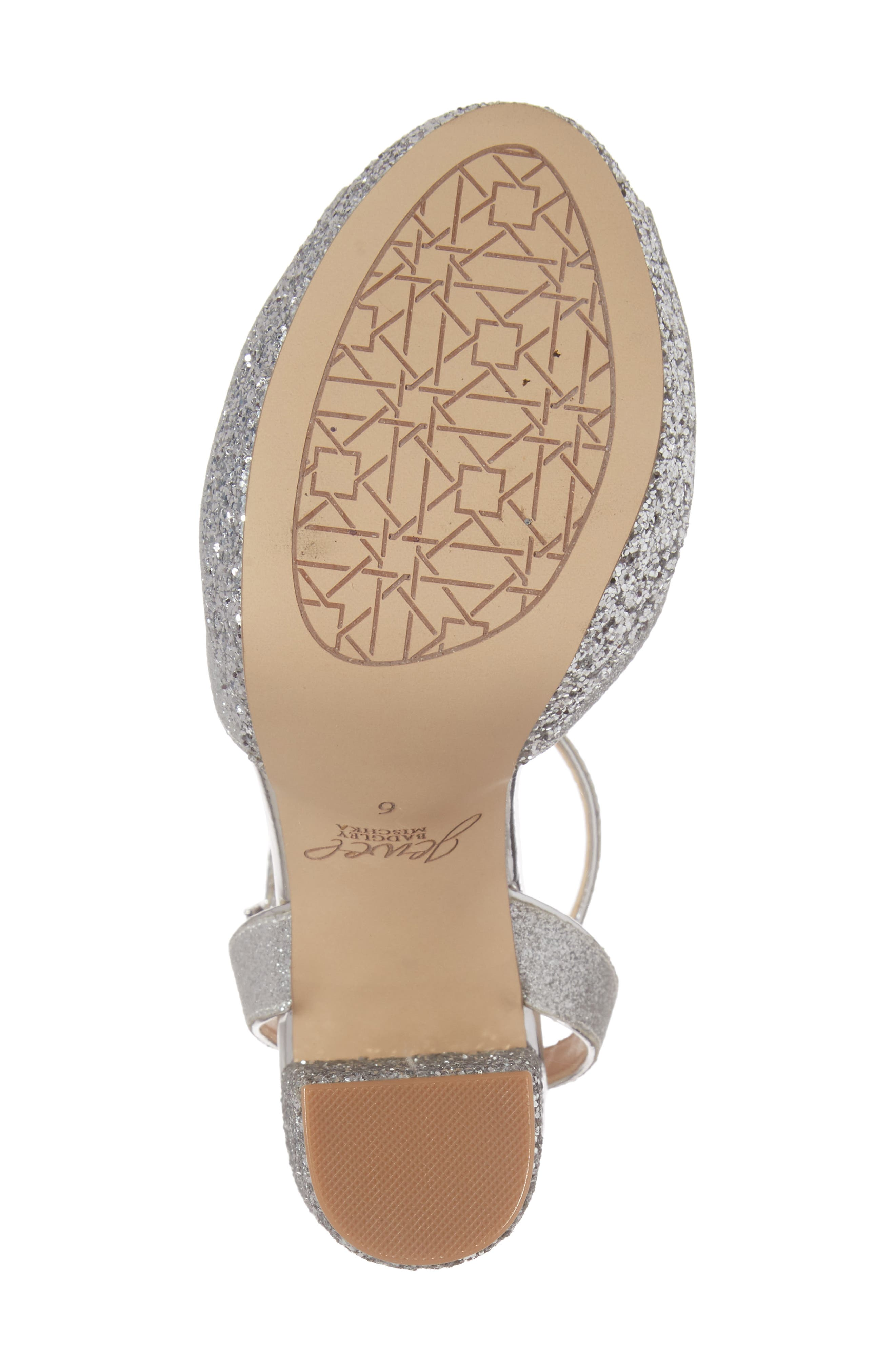 Luke Platform Sandal,                             Alternate thumbnail 6, color,                             Silver Leather