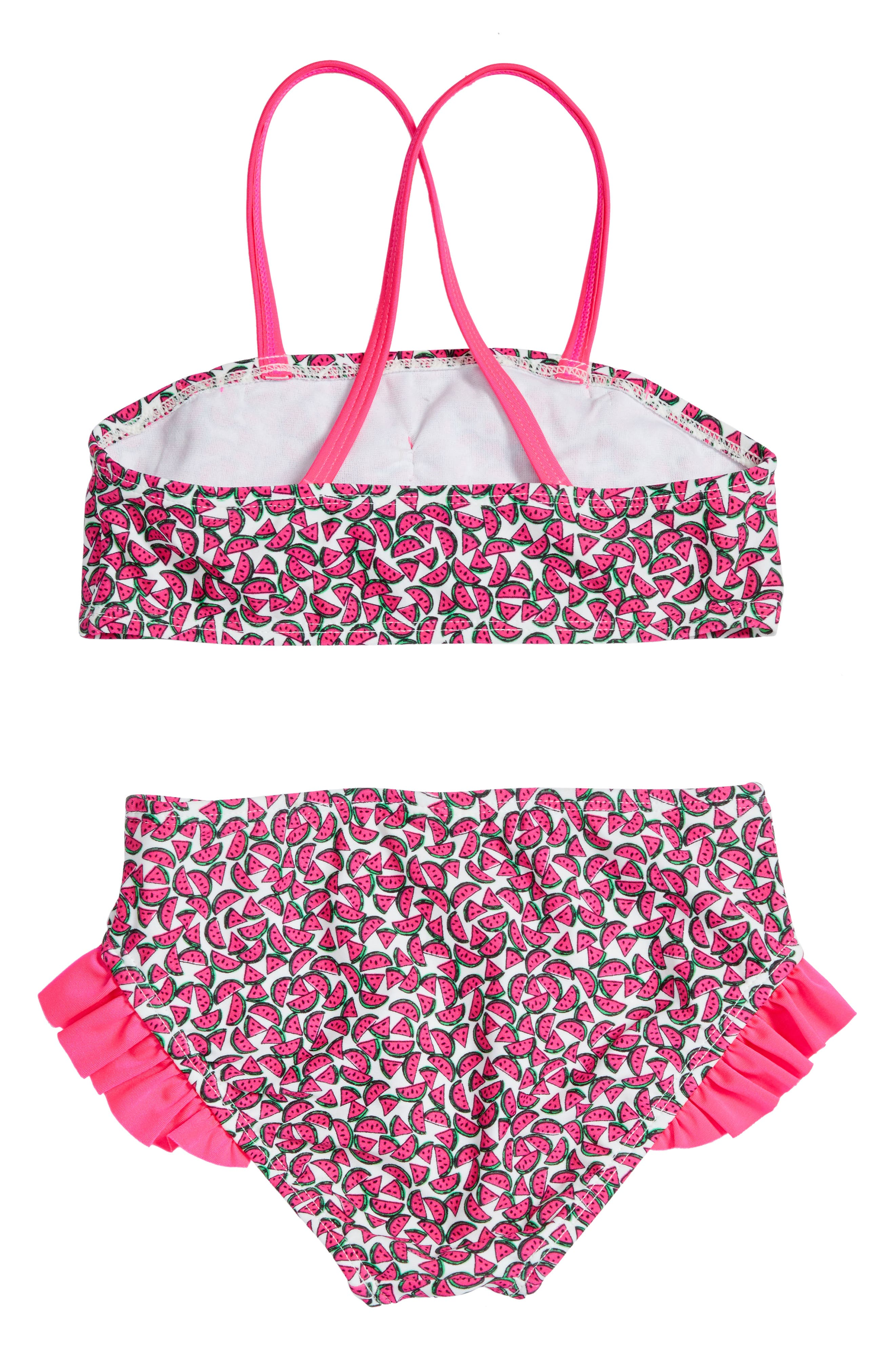Alternate Image 2  - Hula Star Watermelon Two-Piece Swimsuit (Toddler Girls & Little Girls)