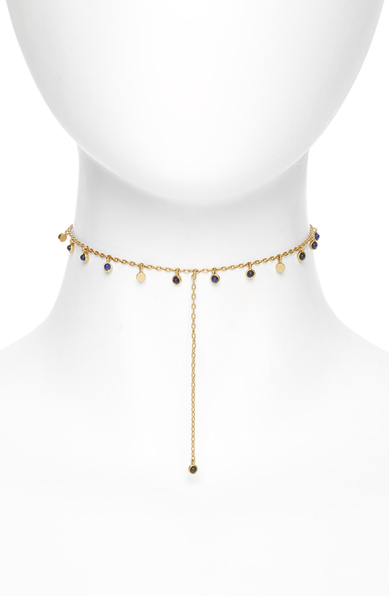 Madewell Lapis Lariat Necklace