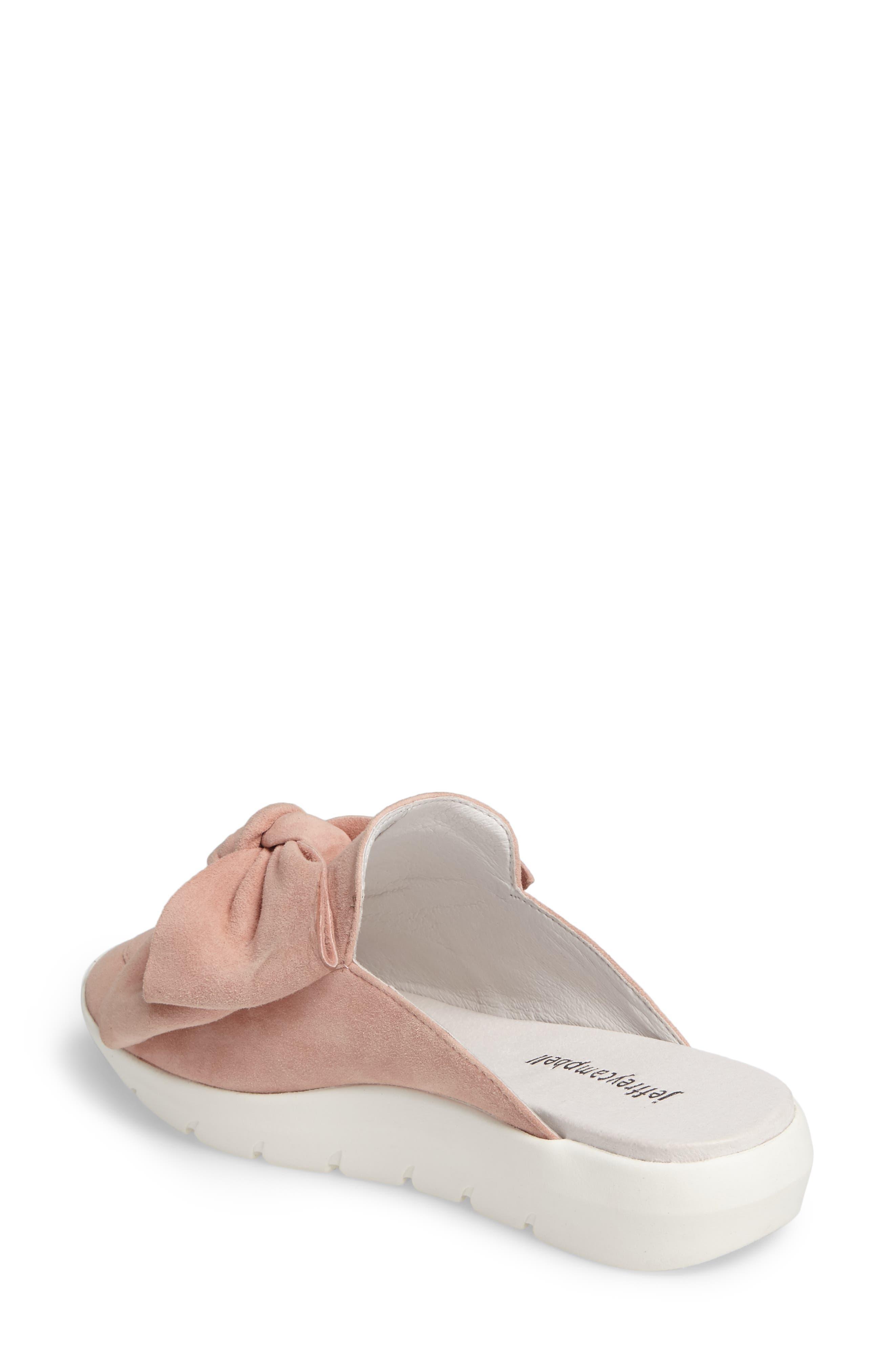Tibow Platform Slide Sneaker,                             Alternate thumbnail 2, color,                             Pale Pink Suede