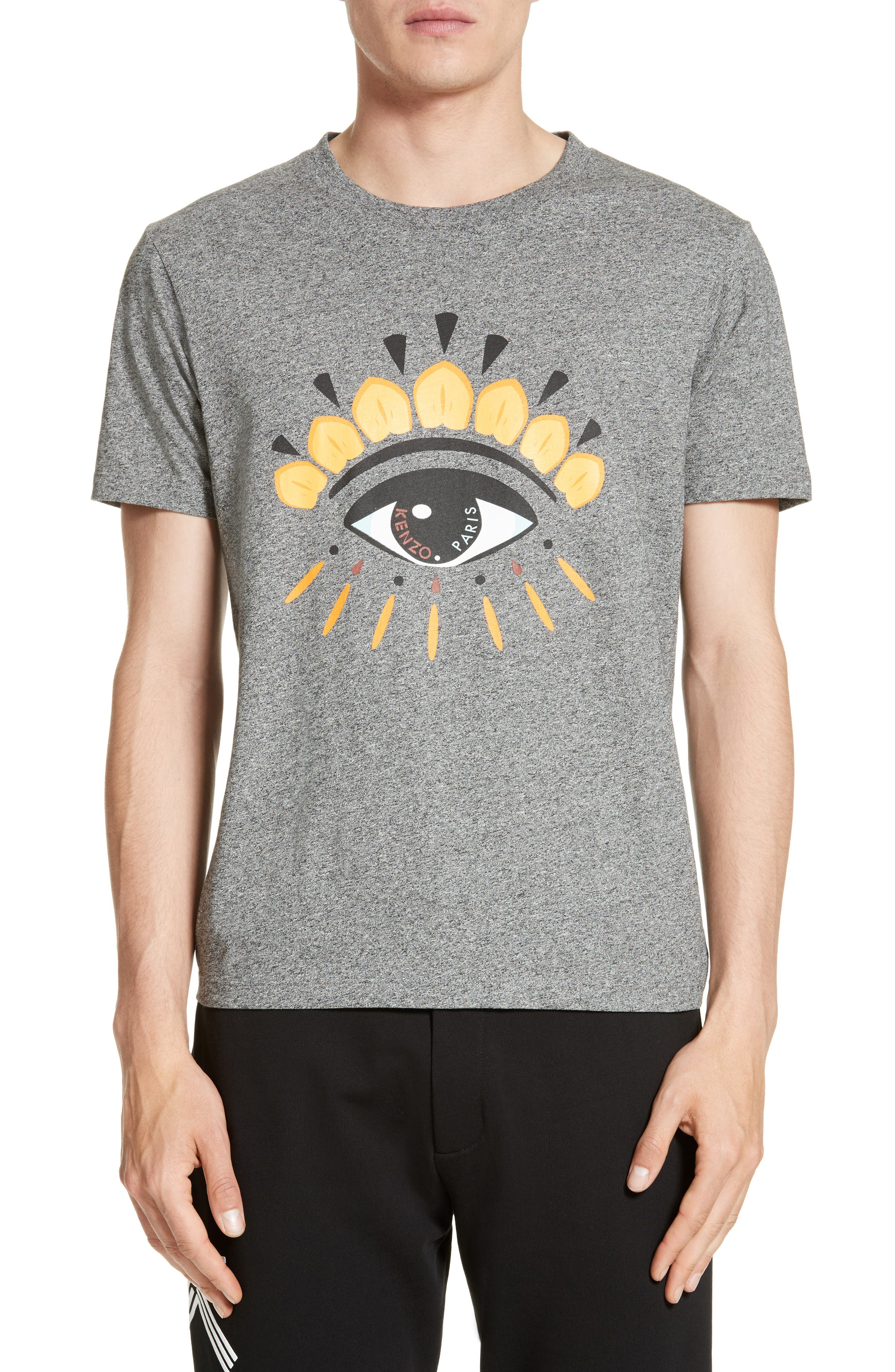 Embroidered Eye T-Shirt,                         Main,                         color, Antracite