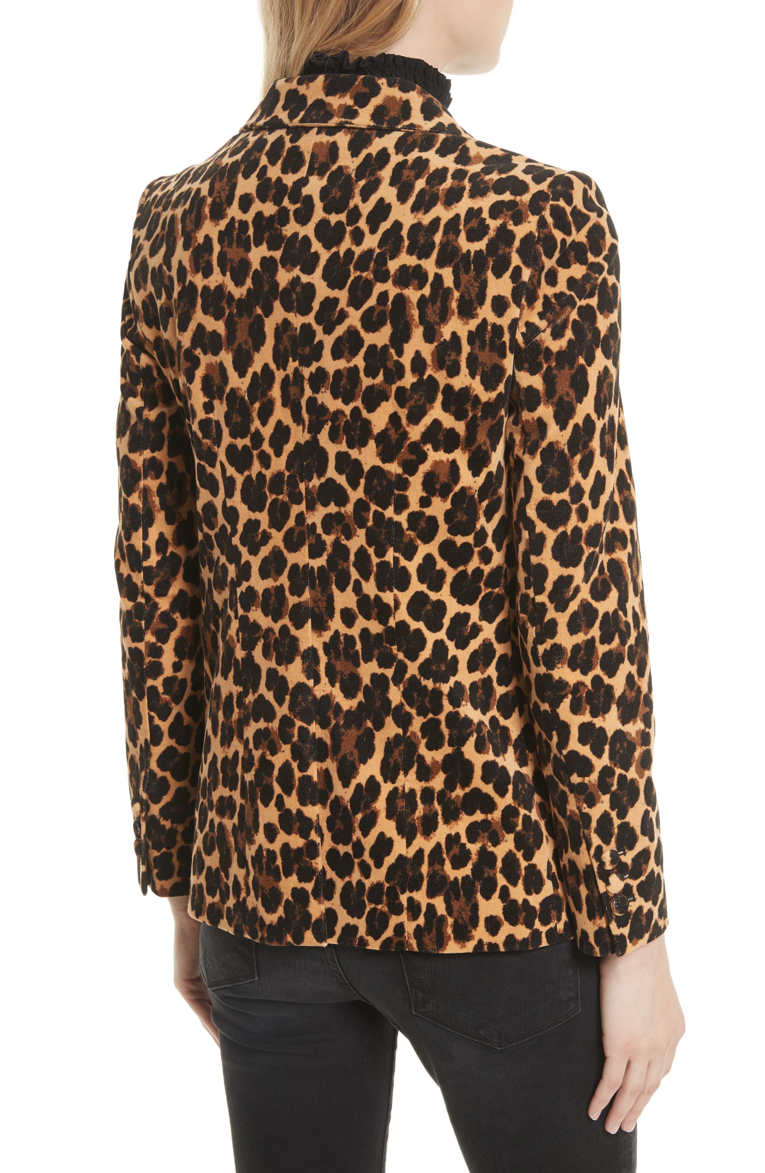 Alternate Image 3  - FRAME Cheetah Classic Velvet Blazer