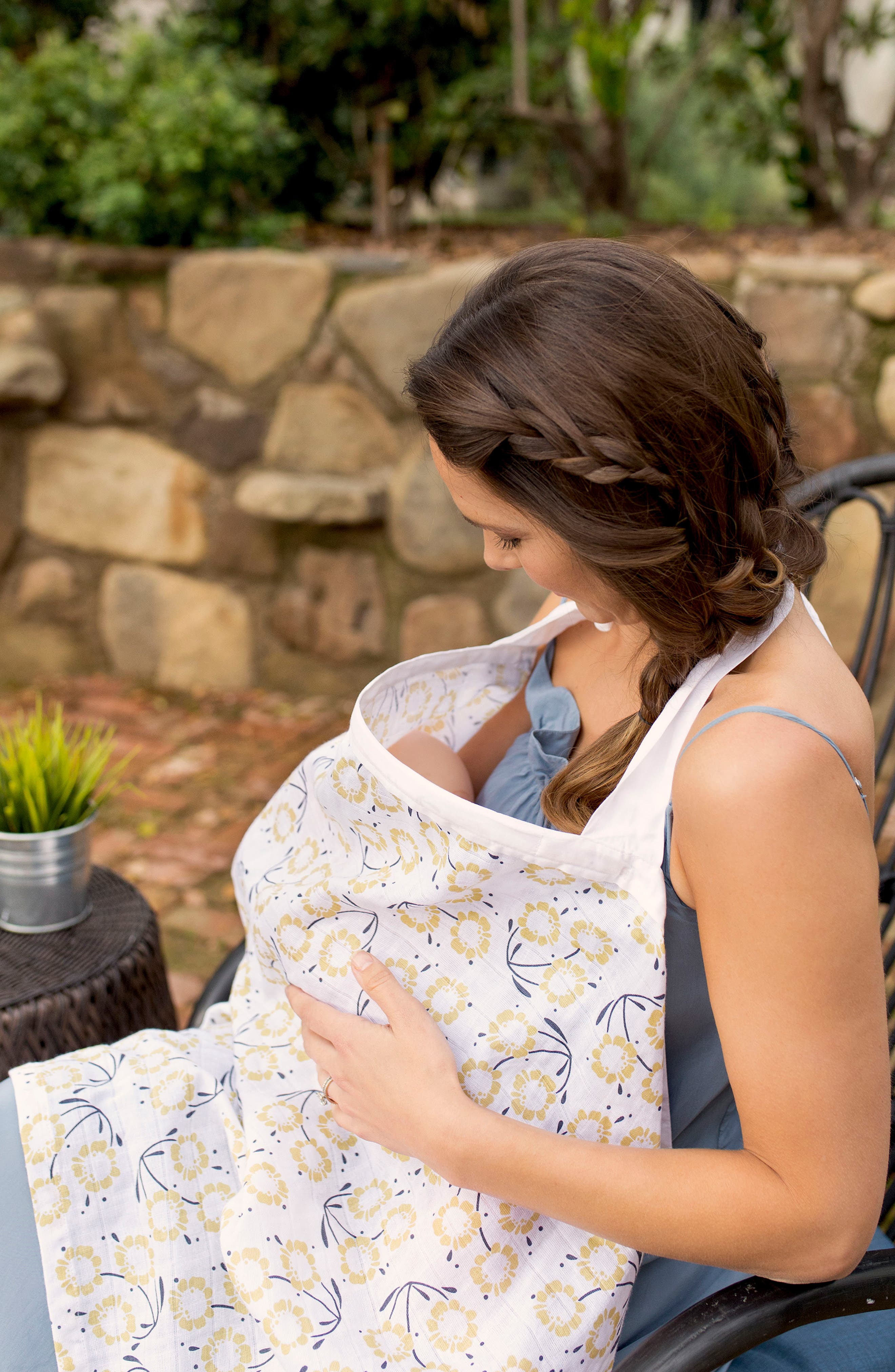 Nursing Cover & Burp Cloth Set,                             Alternate thumbnail 2, color,                             Sorrento
