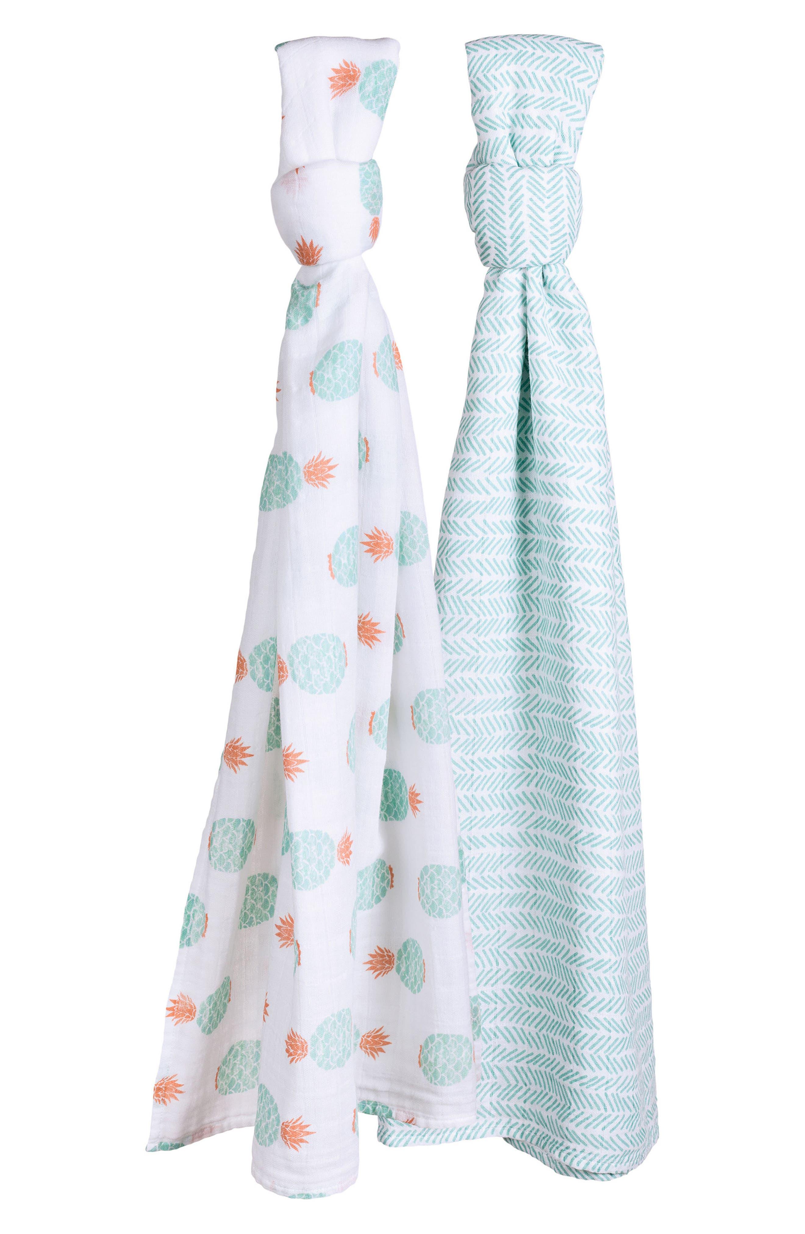 Bébé au Lait 2-Pack Muslin Swaddle Blankets