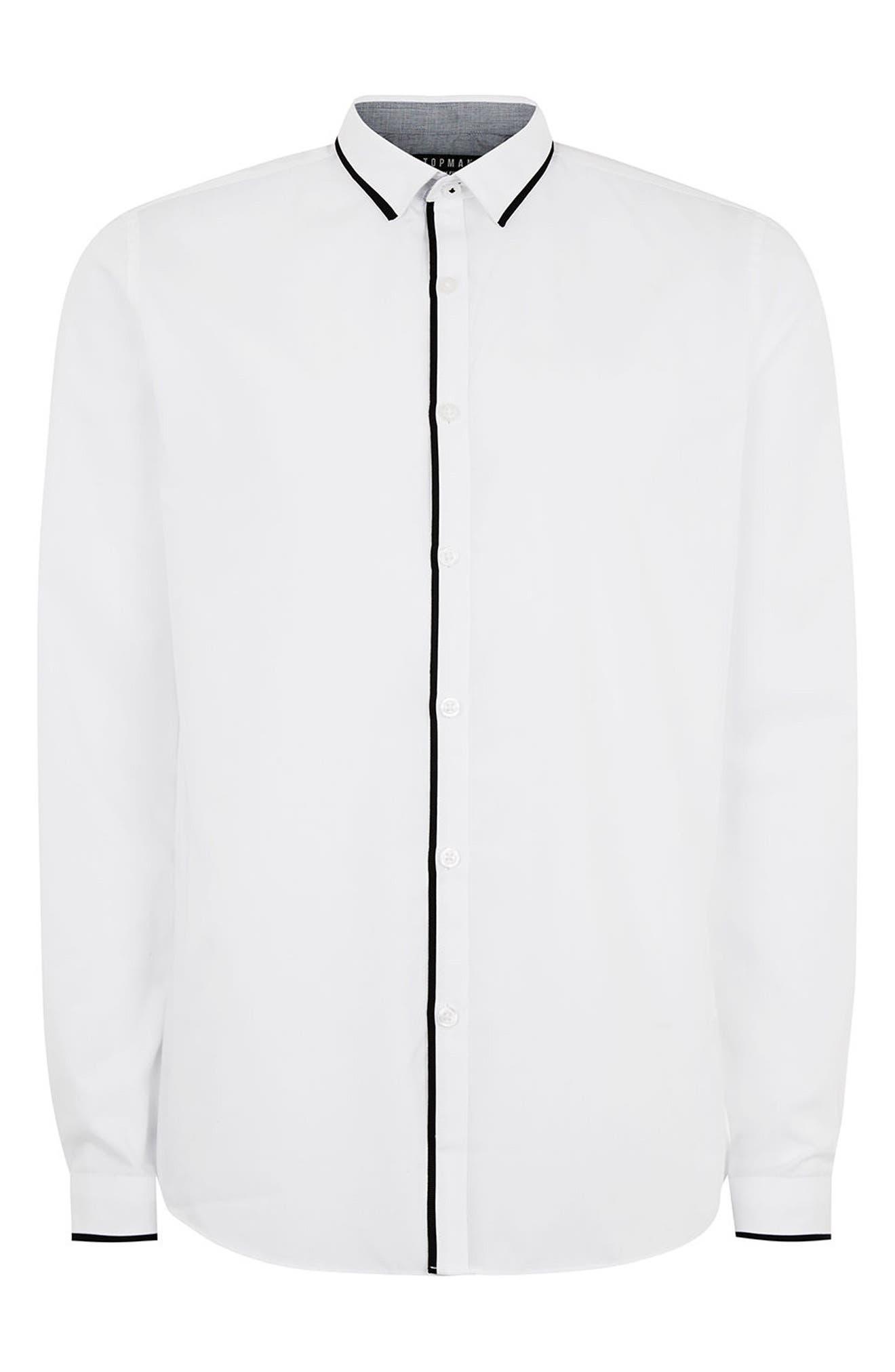 Alternate Image 7  - Topman Slim Fit Contrast Dress Shirt