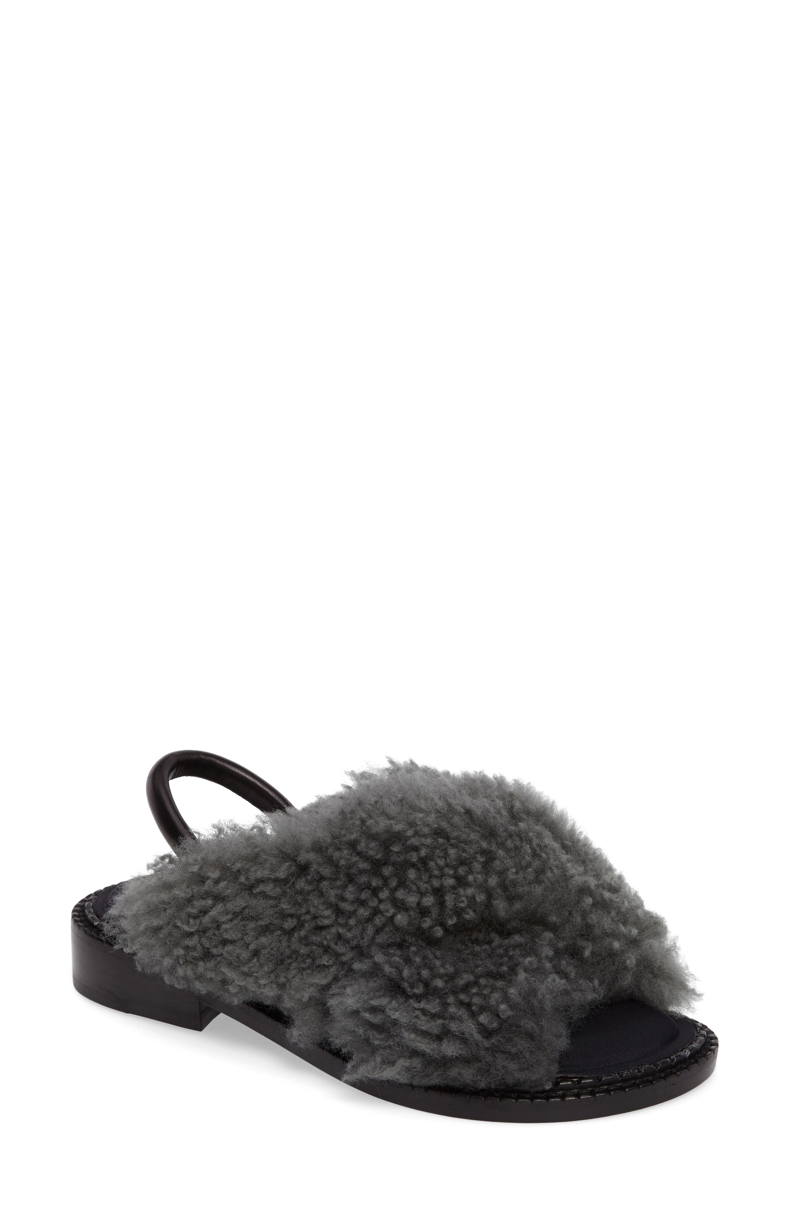 Alternate Image 1 Selected - Robert Clergerie Bloss Genuine Fur Sandal (Women)