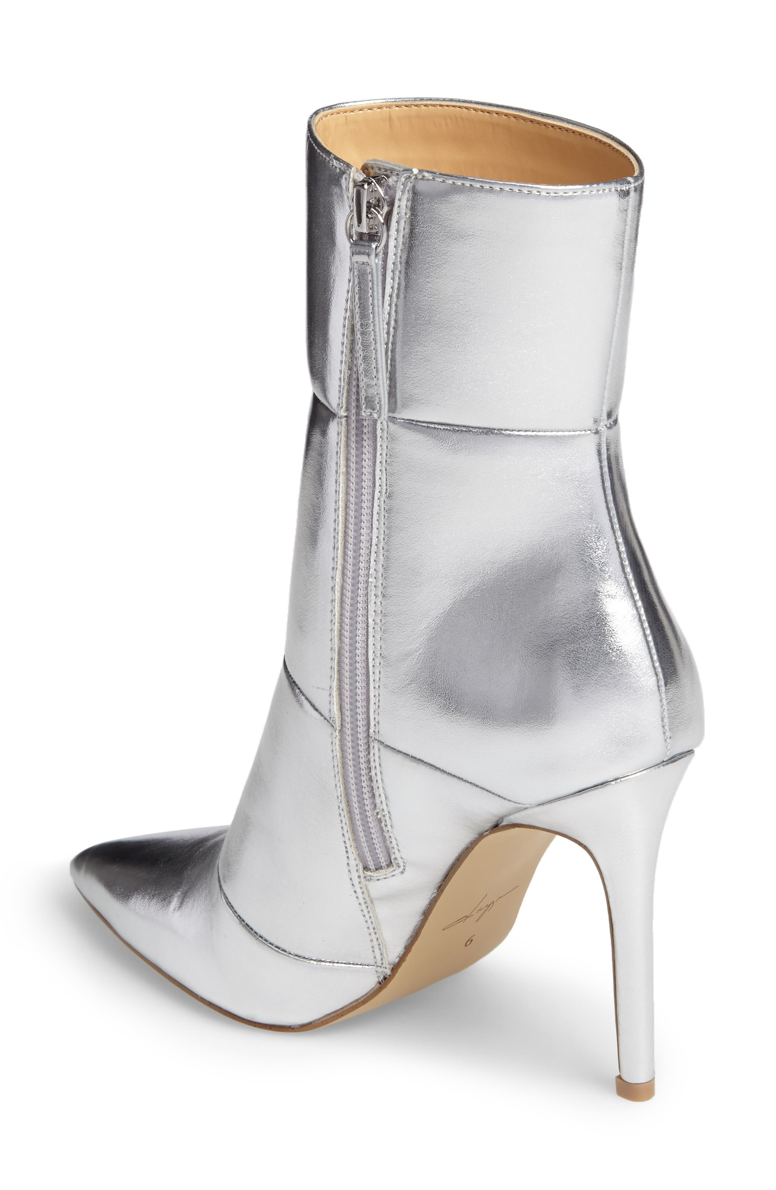 by Zendaya Nicolette Pointy Toe Bootie,                             Alternate thumbnail 2, color,                             Silver