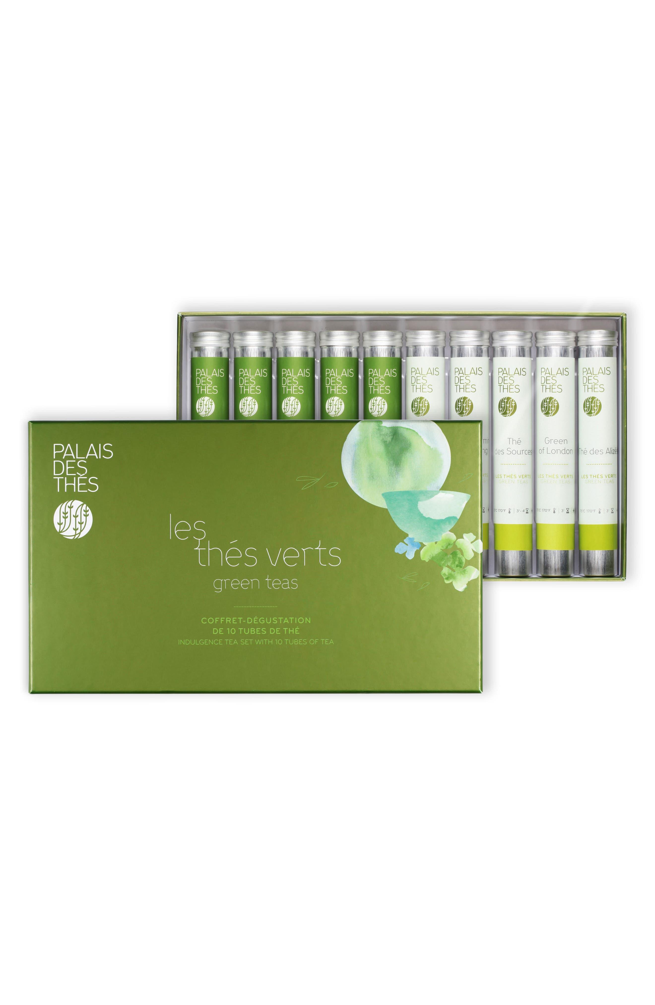 Signature Classics 10 Vial Loose Tea Tasting Set,                         Main,                         color, Green Tea