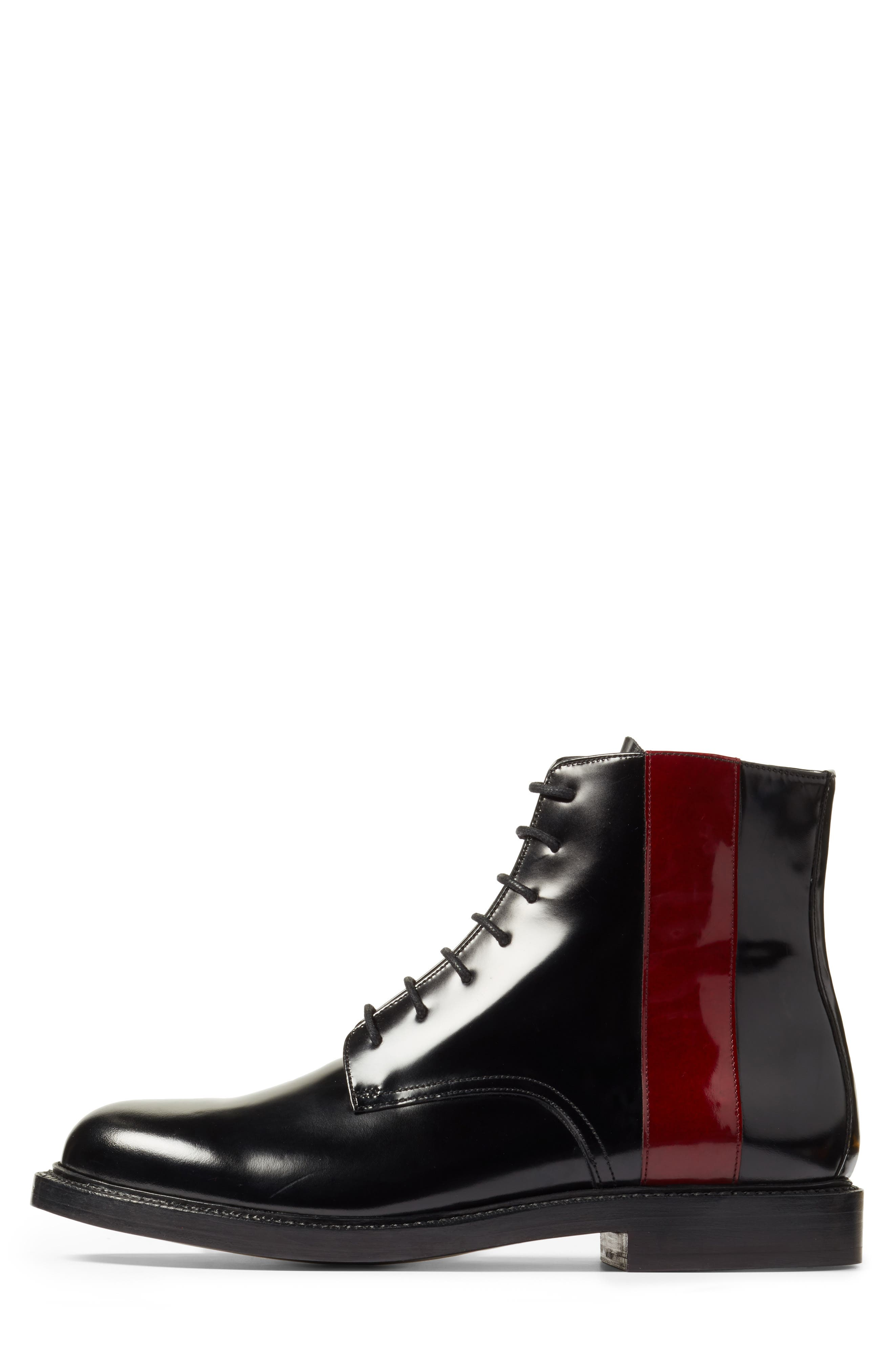 Hova Boot,                             Alternate thumbnail 3, color,                             Black/ Red Leather