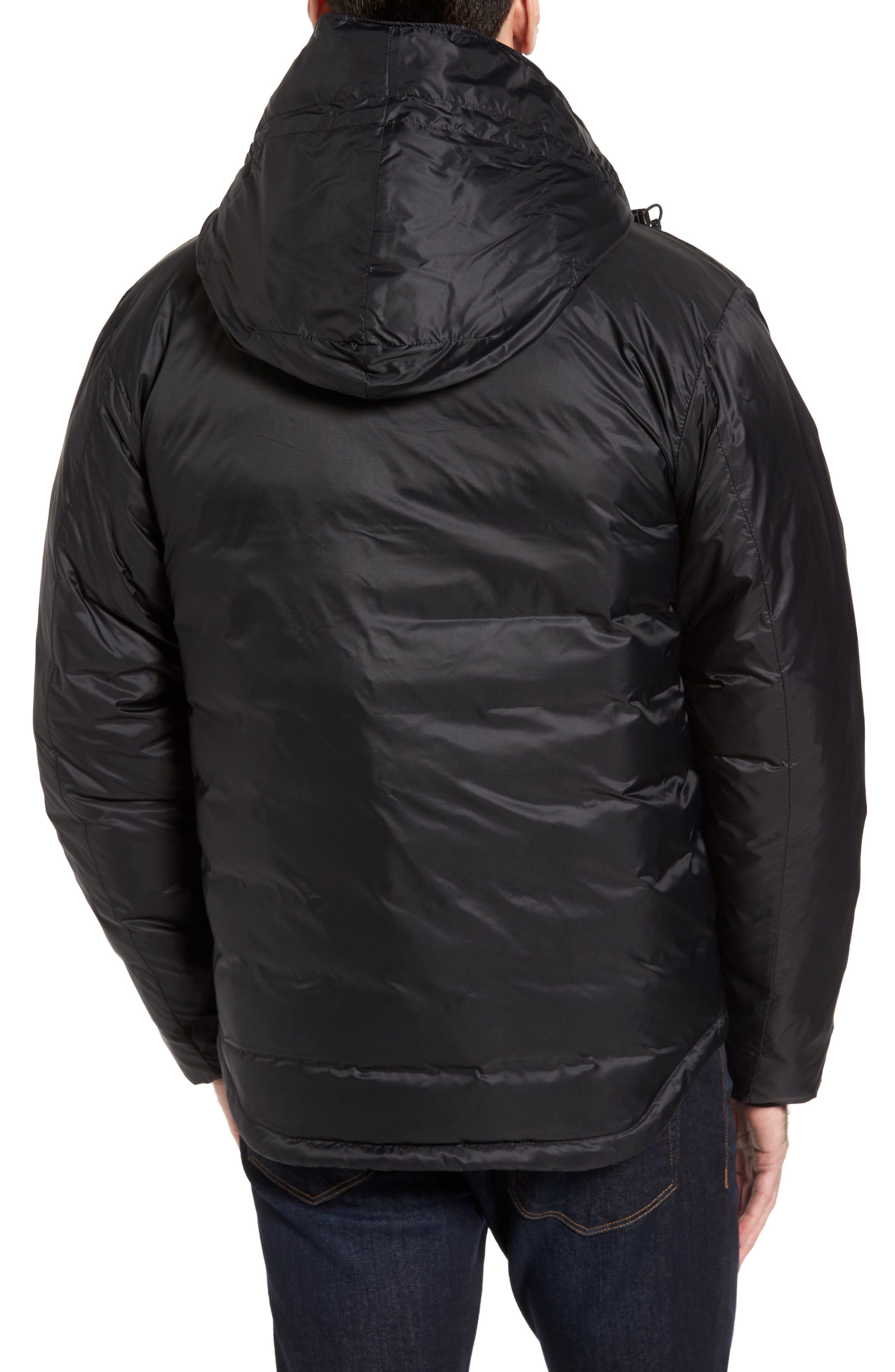 Lodge Packable Down Jacket,                             Alternate thumbnail 2, color,                             Black/ Black