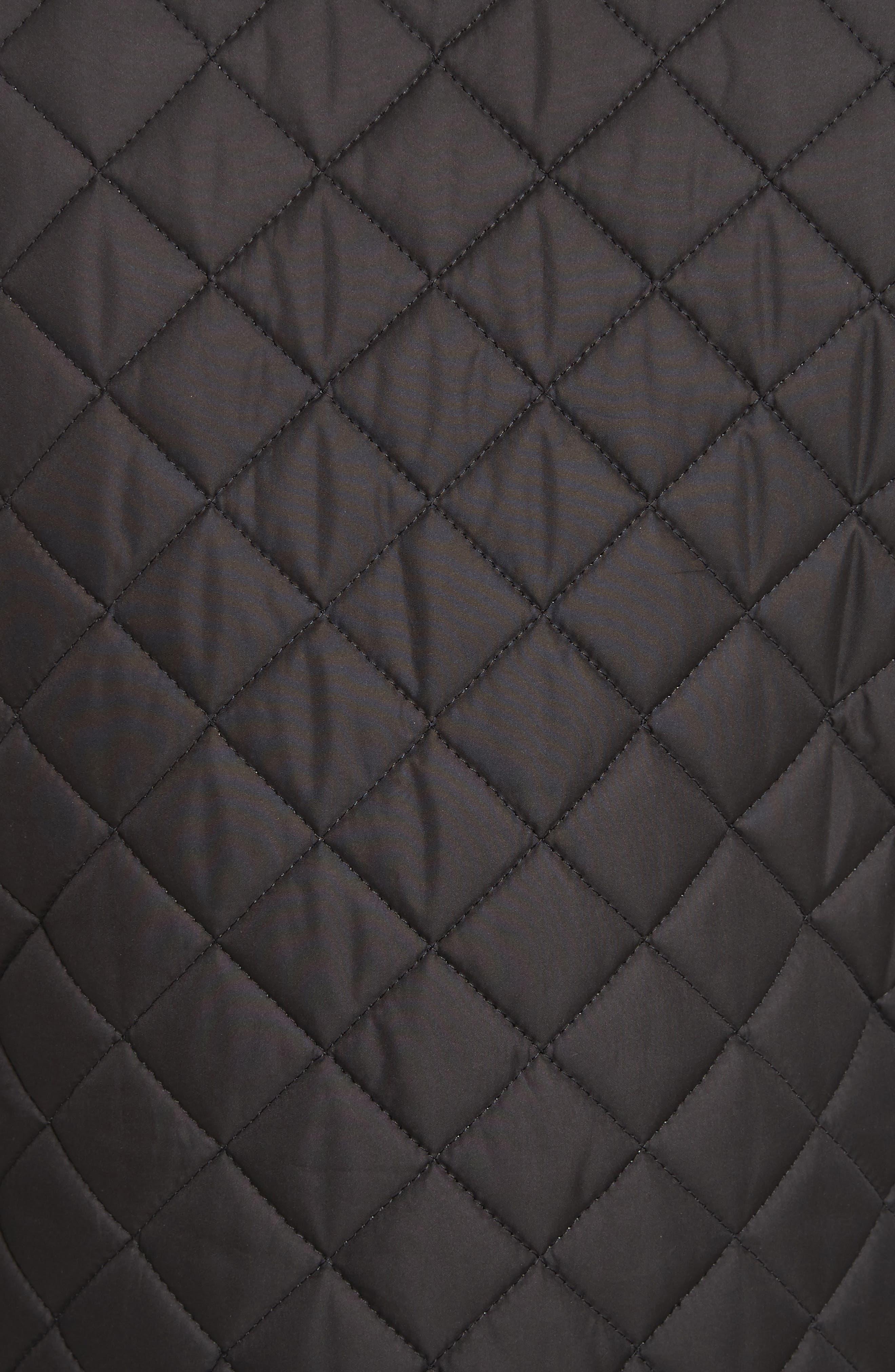 Waistcoat Tech Quilted Vest,                             Alternate thumbnail 5, color,                             Black