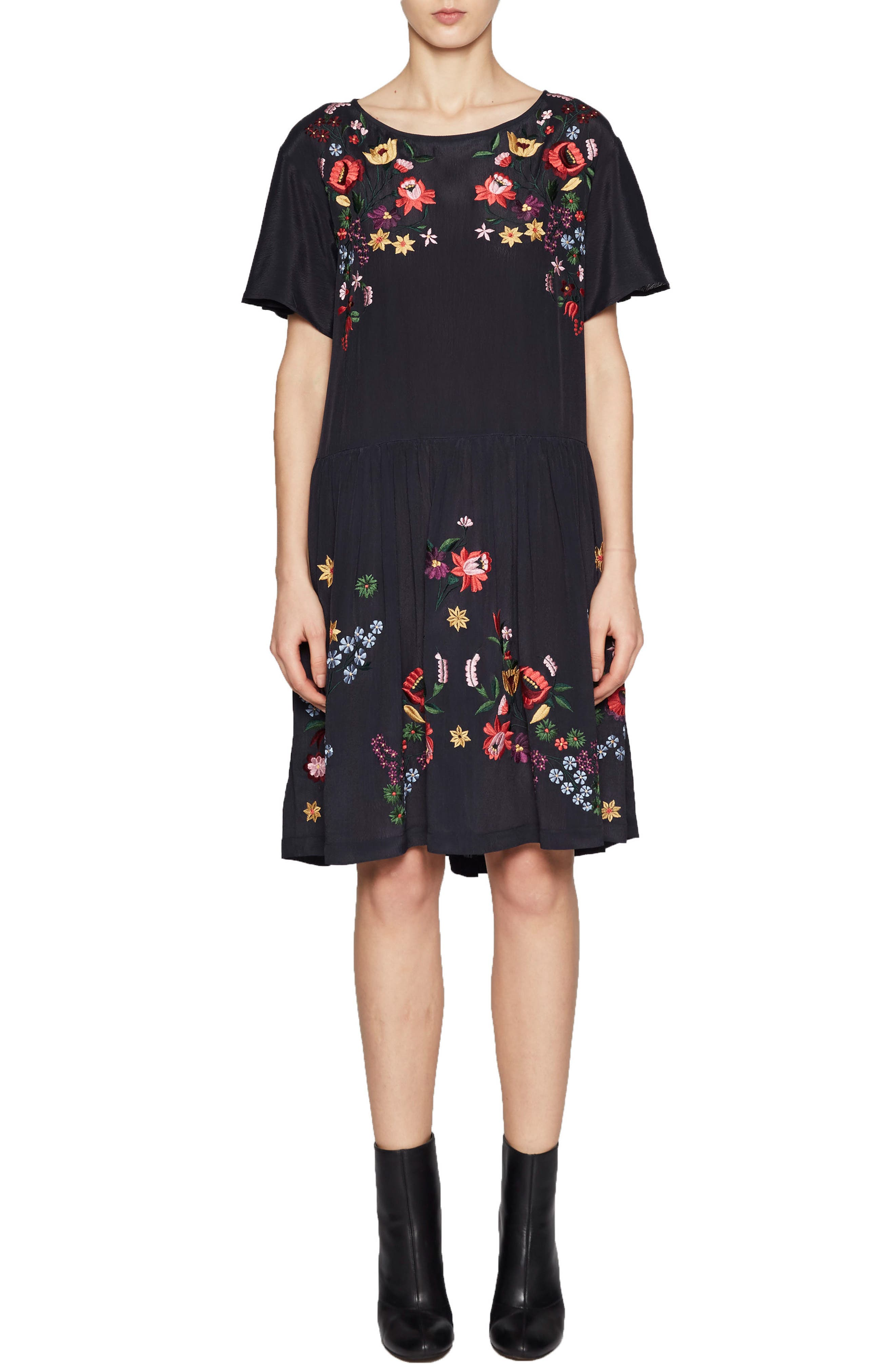 Alice Embroidered Dress,                         Main,                         color, Utility Blue