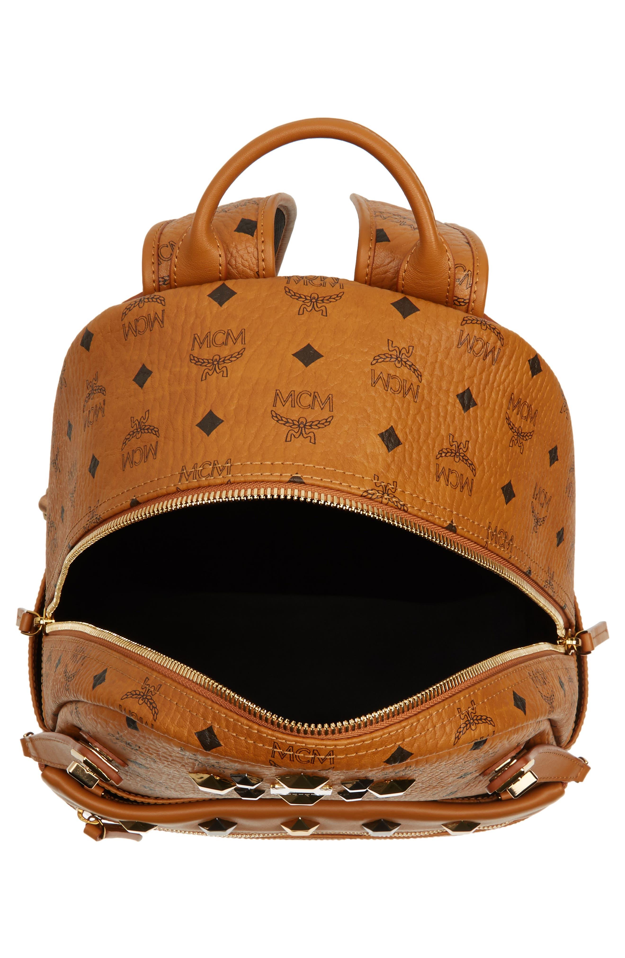 Medium Dual Stark Backpack,                             Alternate thumbnail 4, color,                             Cognac