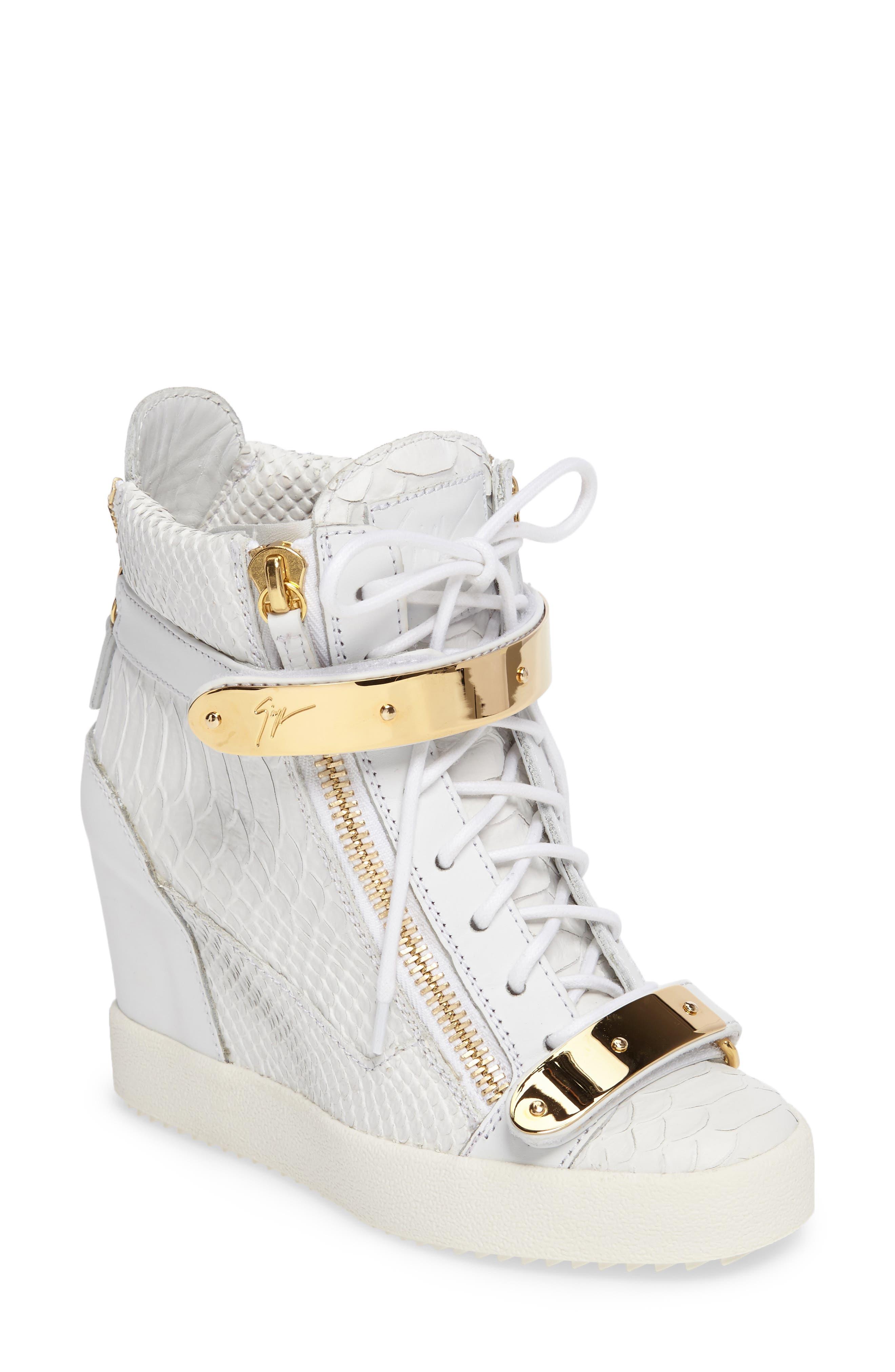 Wedge Sneaker,                             Main thumbnail 1, color,                             White