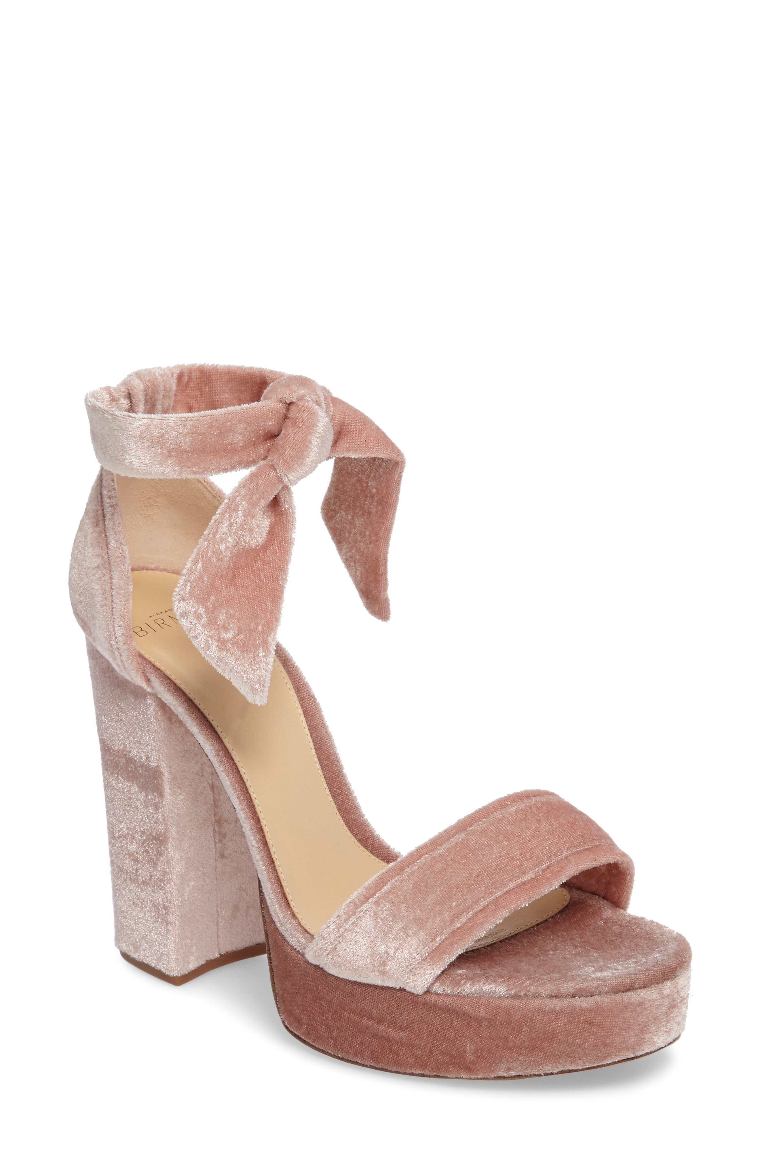 Celine Platform Sandal,                             Main thumbnail 1, color,                             Blush