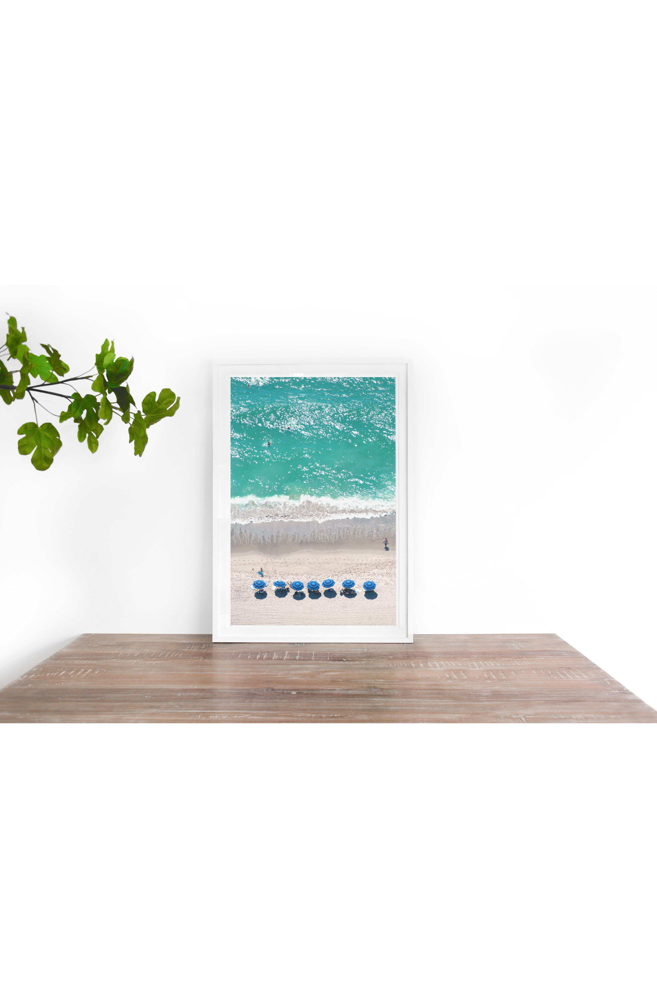 Santa Monica Framed Art Print,                             Alternate thumbnail 2, color,                             Blue
