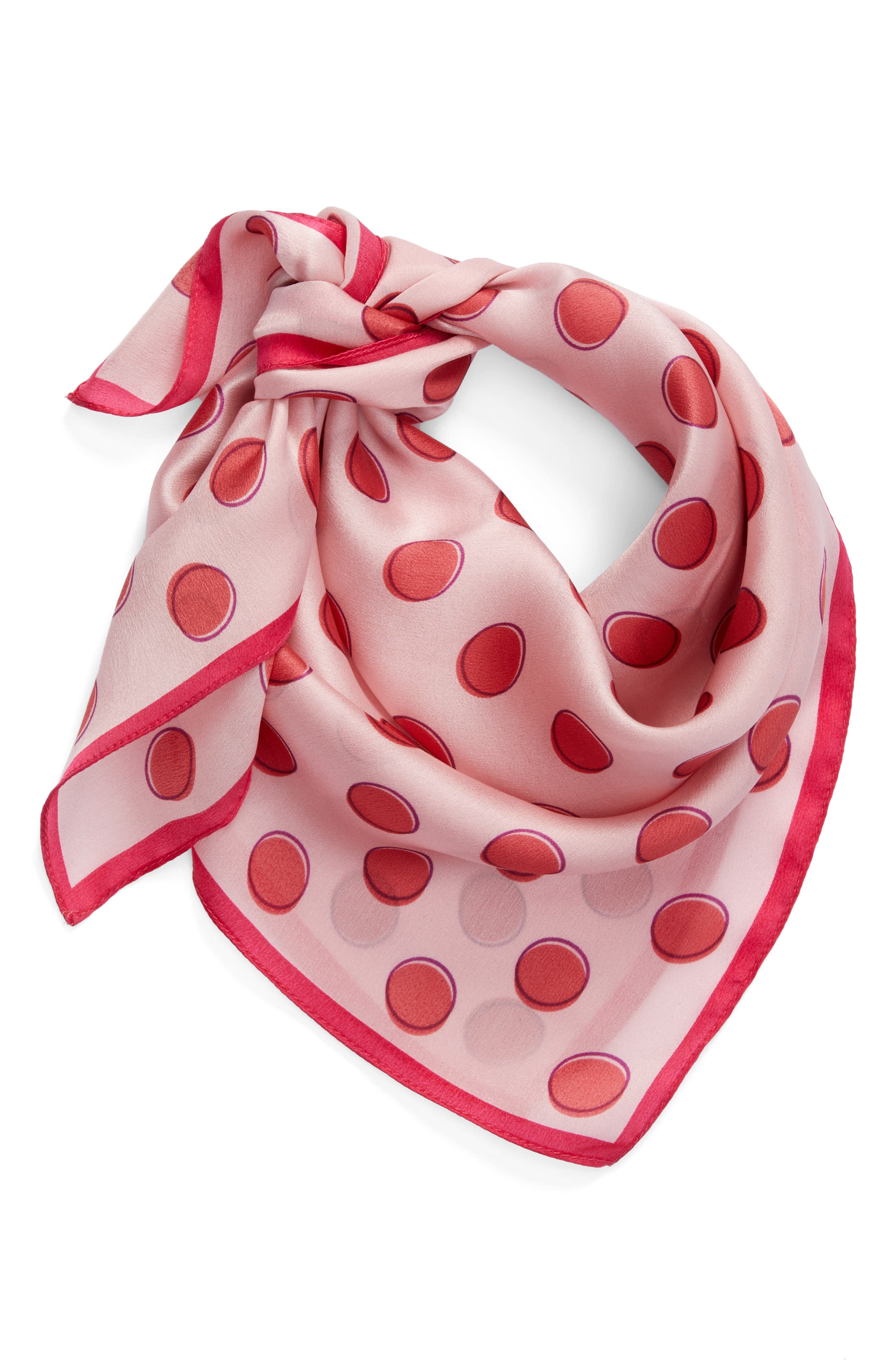 Alternate Image 3  - Halogen® Shadow Dot Silk Square Scarf