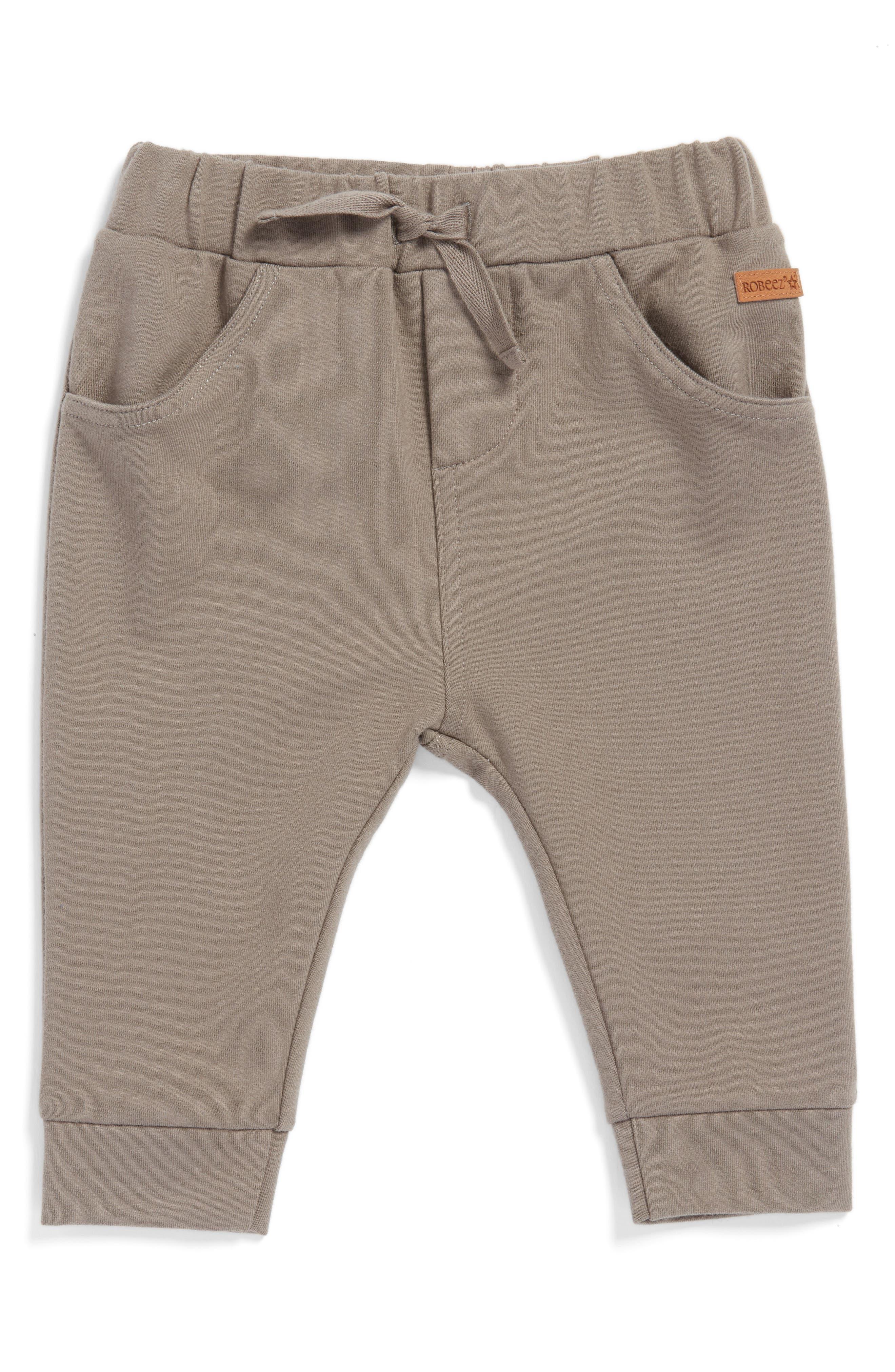 Drawstring Terry Sweatpants,                         Main,                         color, Brown