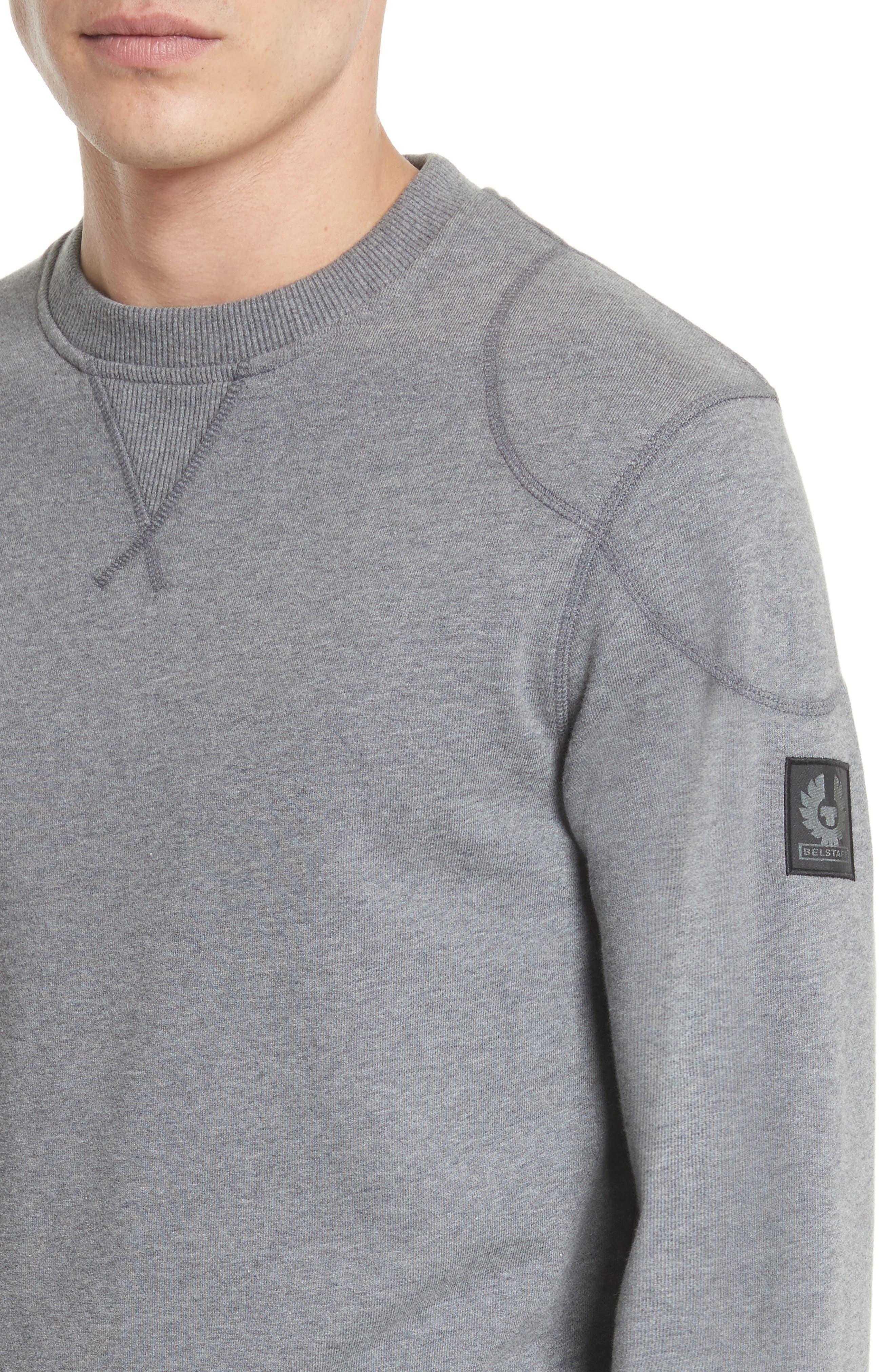 Jefferson Fleece Sweatshirt,                             Alternate thumbnail 4, color,                             Dark Grey Mel