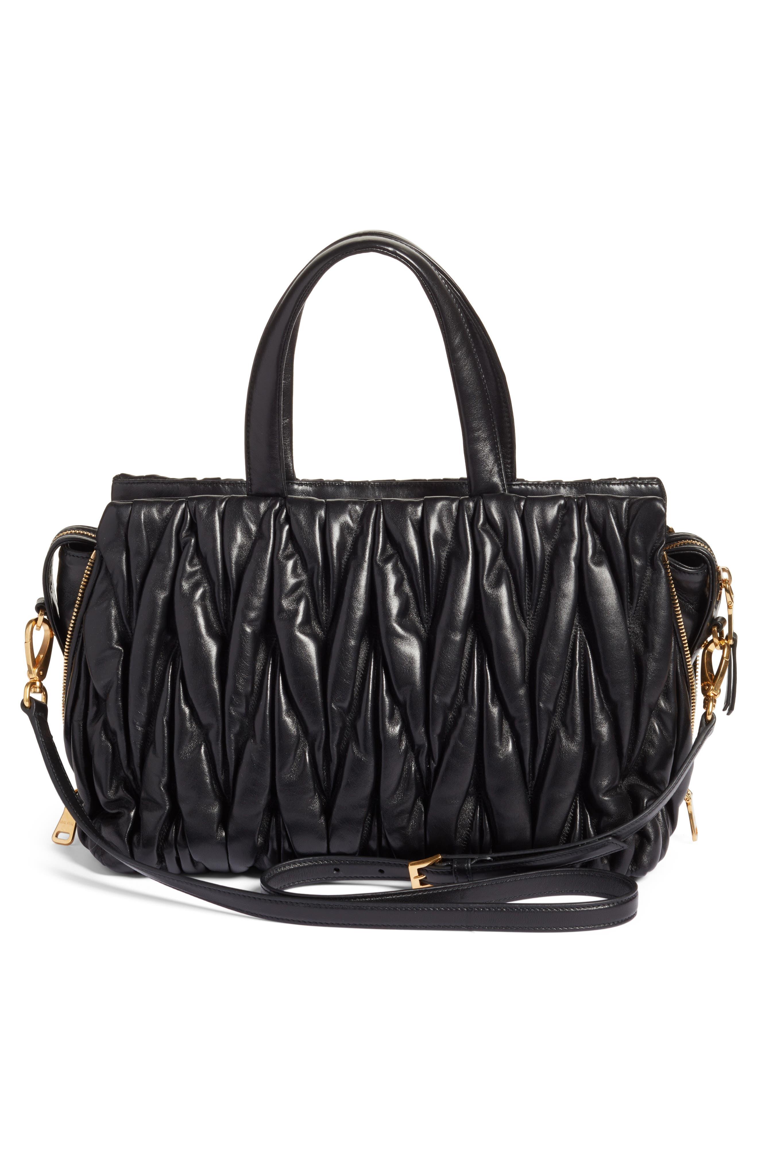 Alternate Image 2  - Miu Miu Matelassé Leather Top Handle Satchel