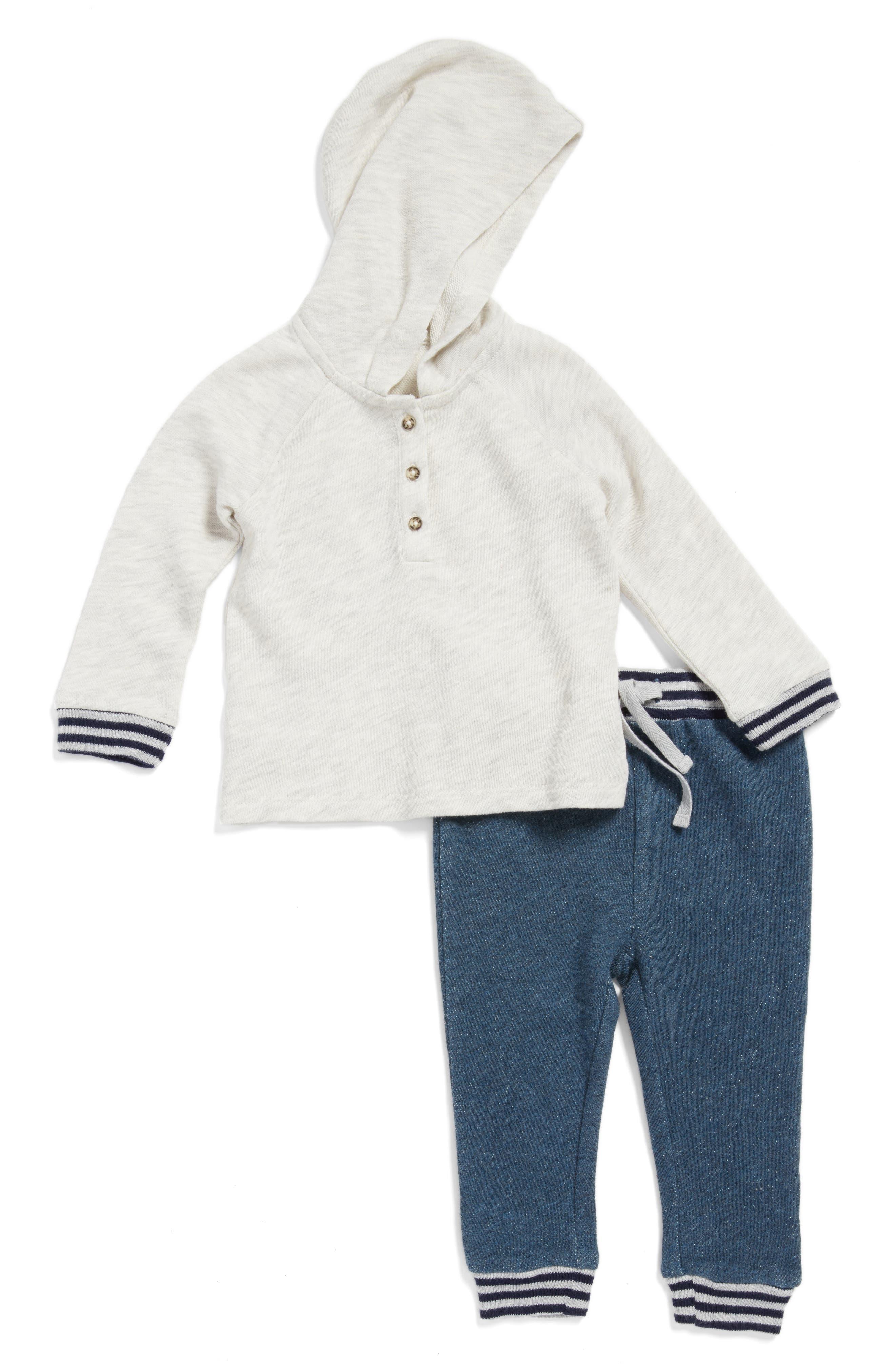 Alternate Image 1 Selected - Nordstrom Baby Hoodie & Pants Set (Baby Boys)