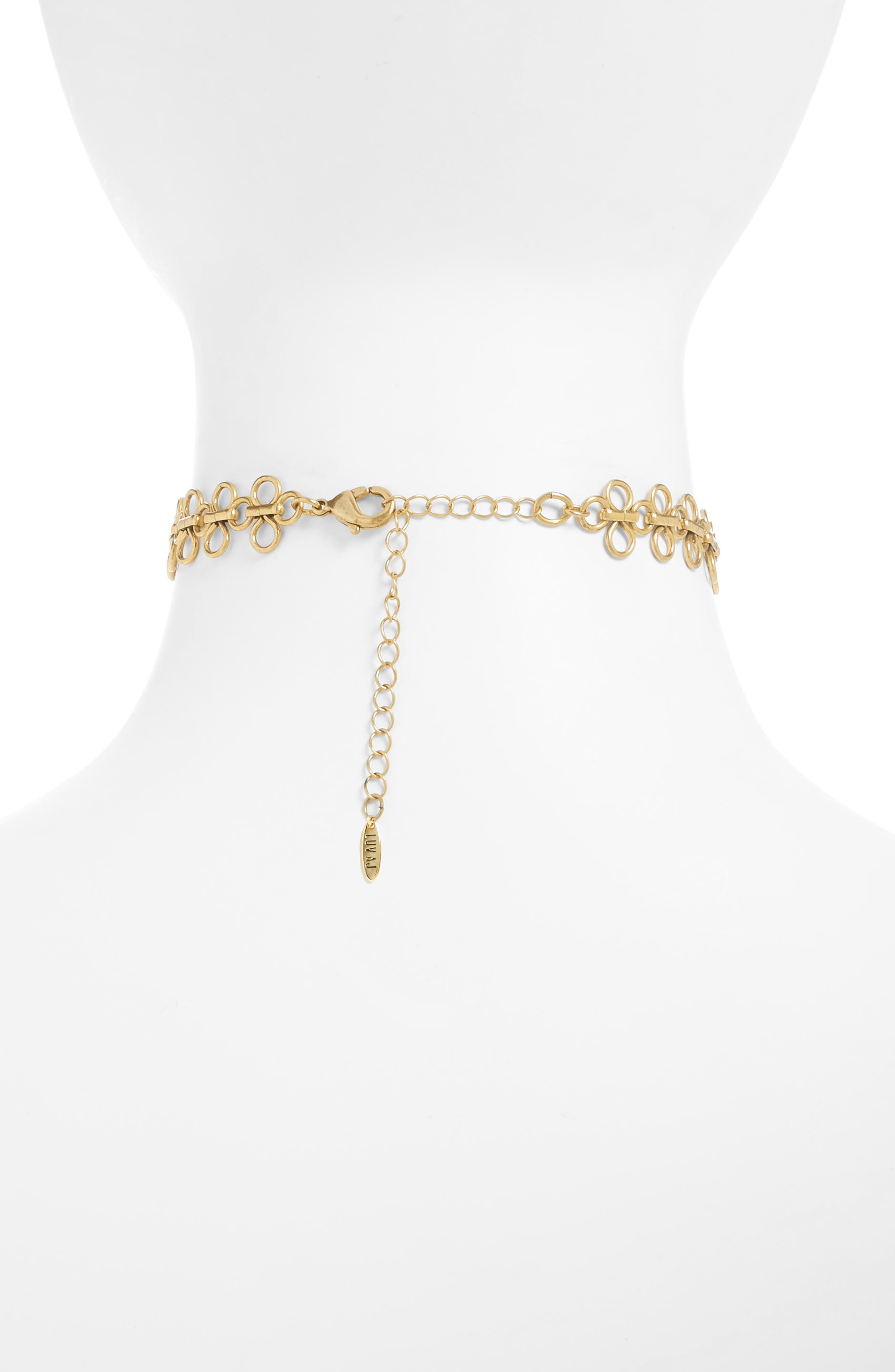 Alternate Image 2  - Luv AJ Lace Link Choker Necklace