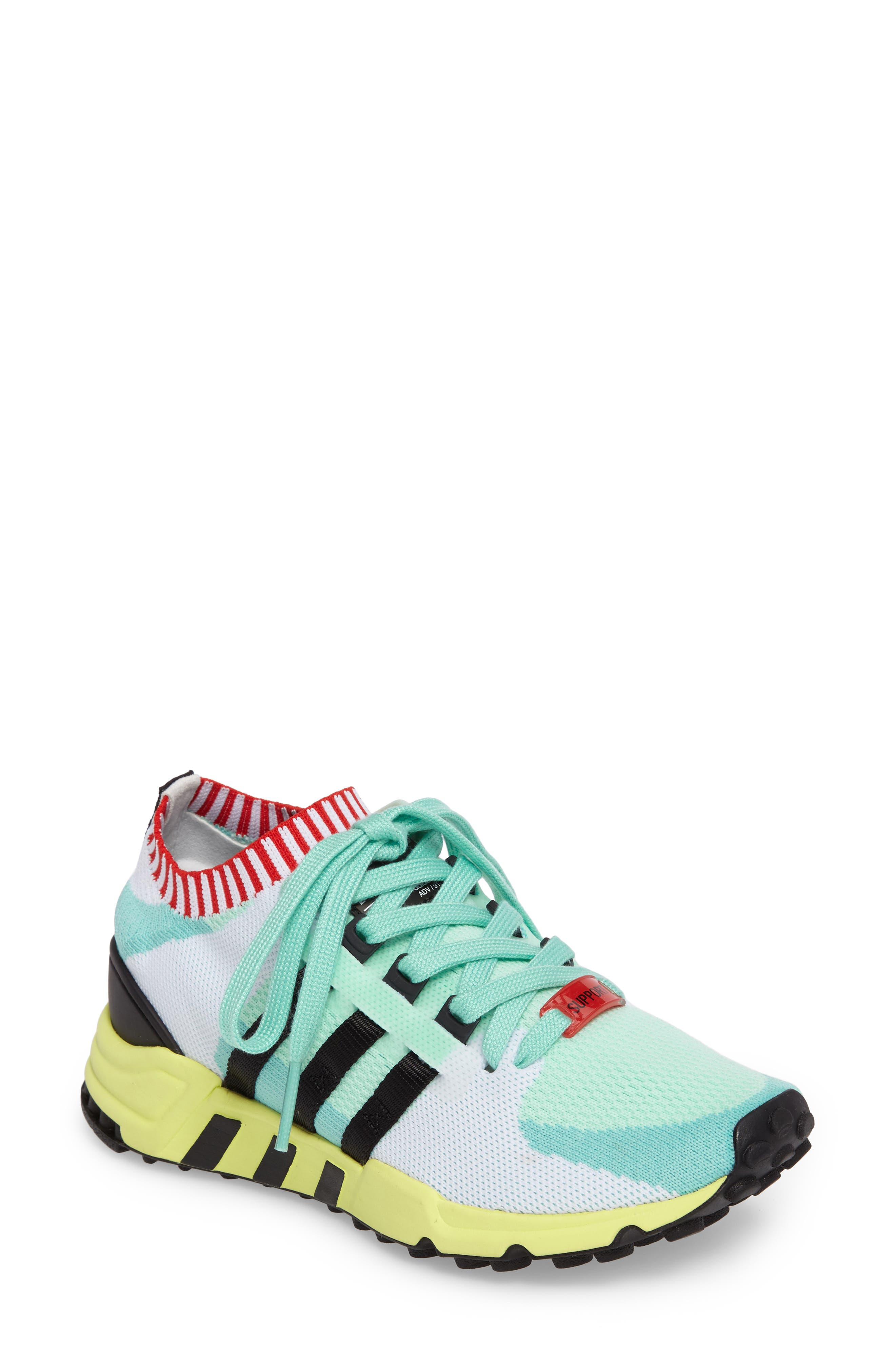 EQT Support RF Sneaker,                             Main thumbnail 1, color,                             Green/ Core Black/ Green