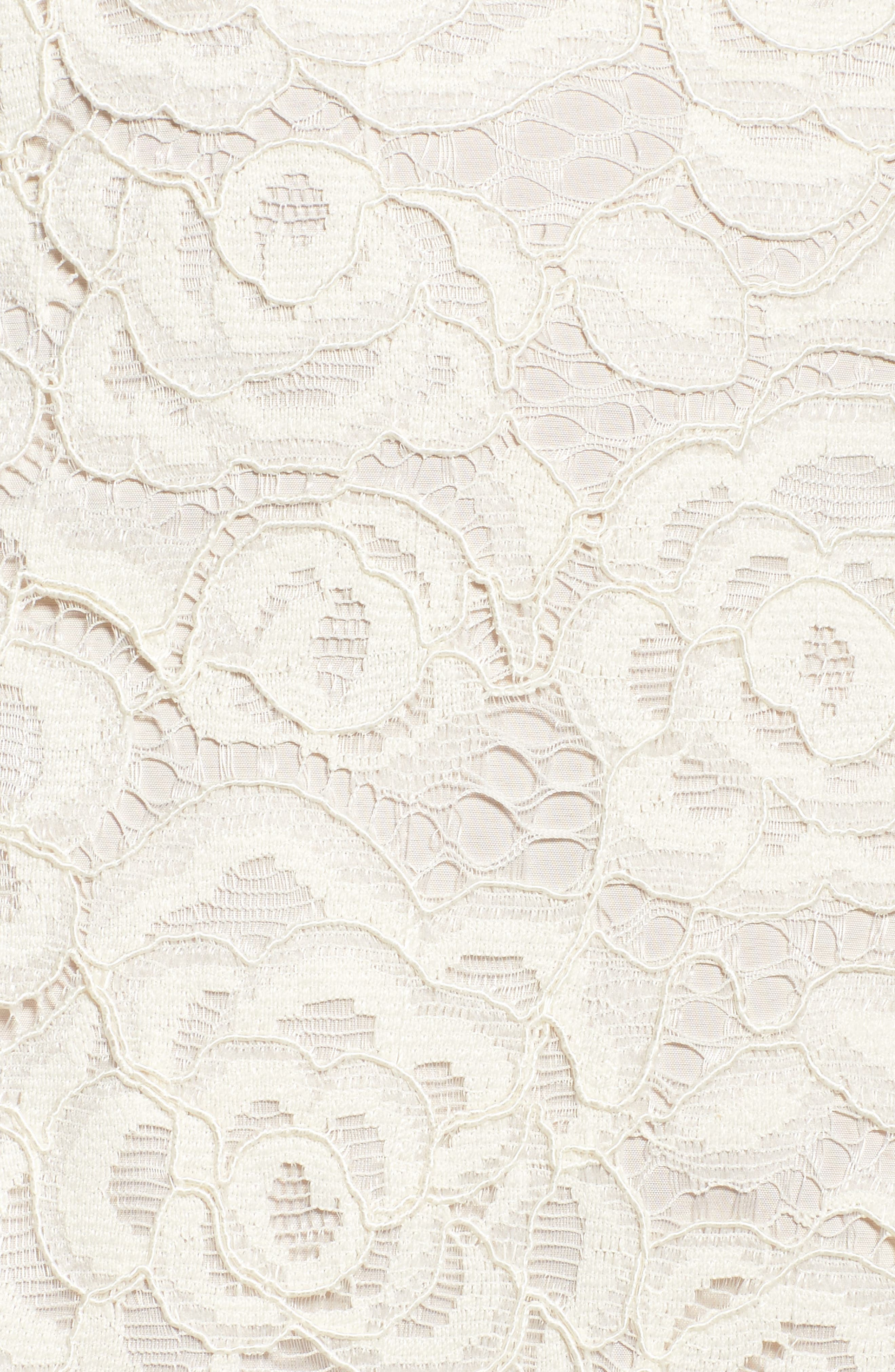 Alternate Image 5  - Adrianna PapellOff the Shoulder Lace Sheath Dress (Regular & Petite)