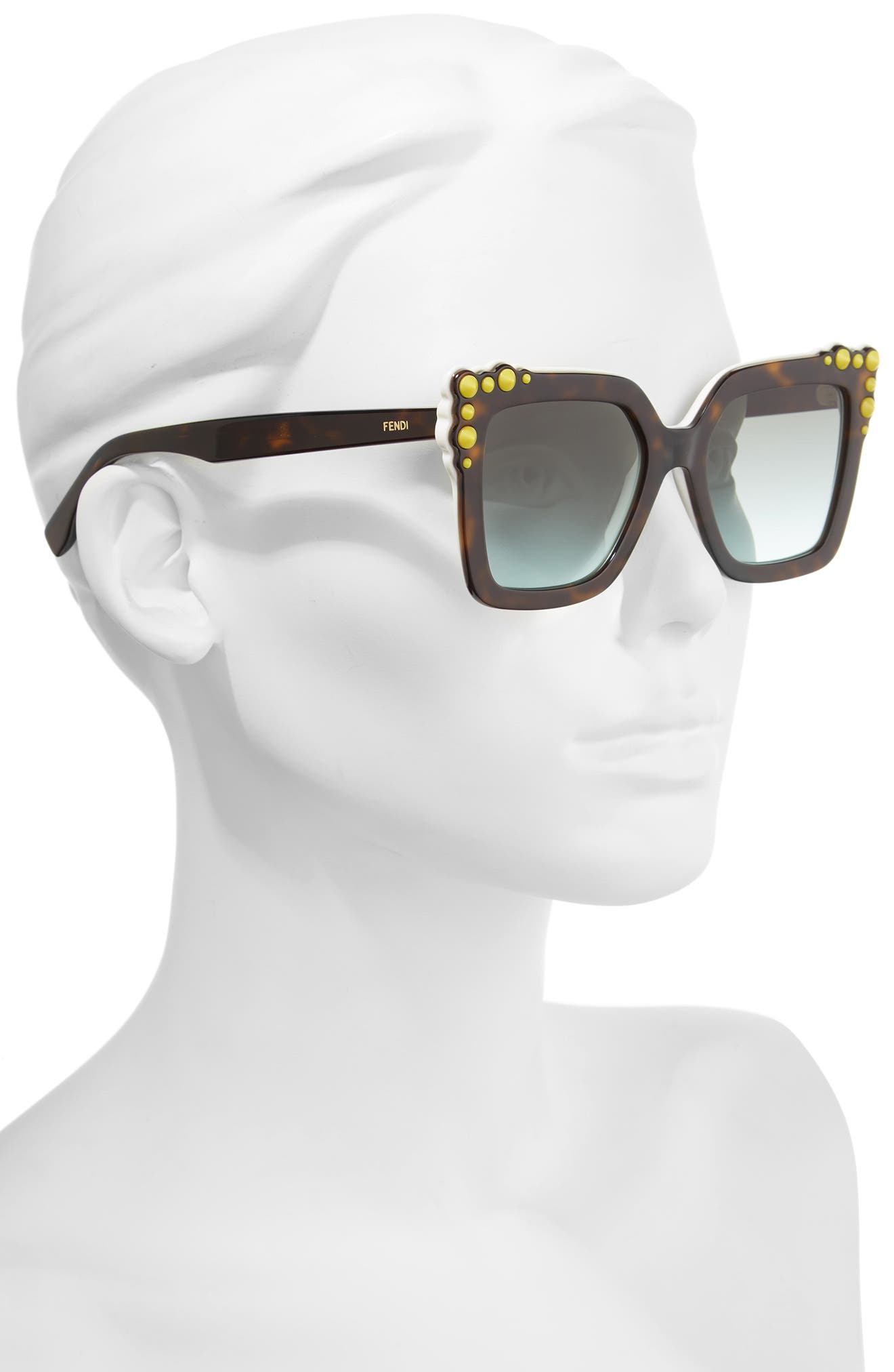 Alternate Image 2  - Fendi 52mm Gradient Cat Eye Sunglasses