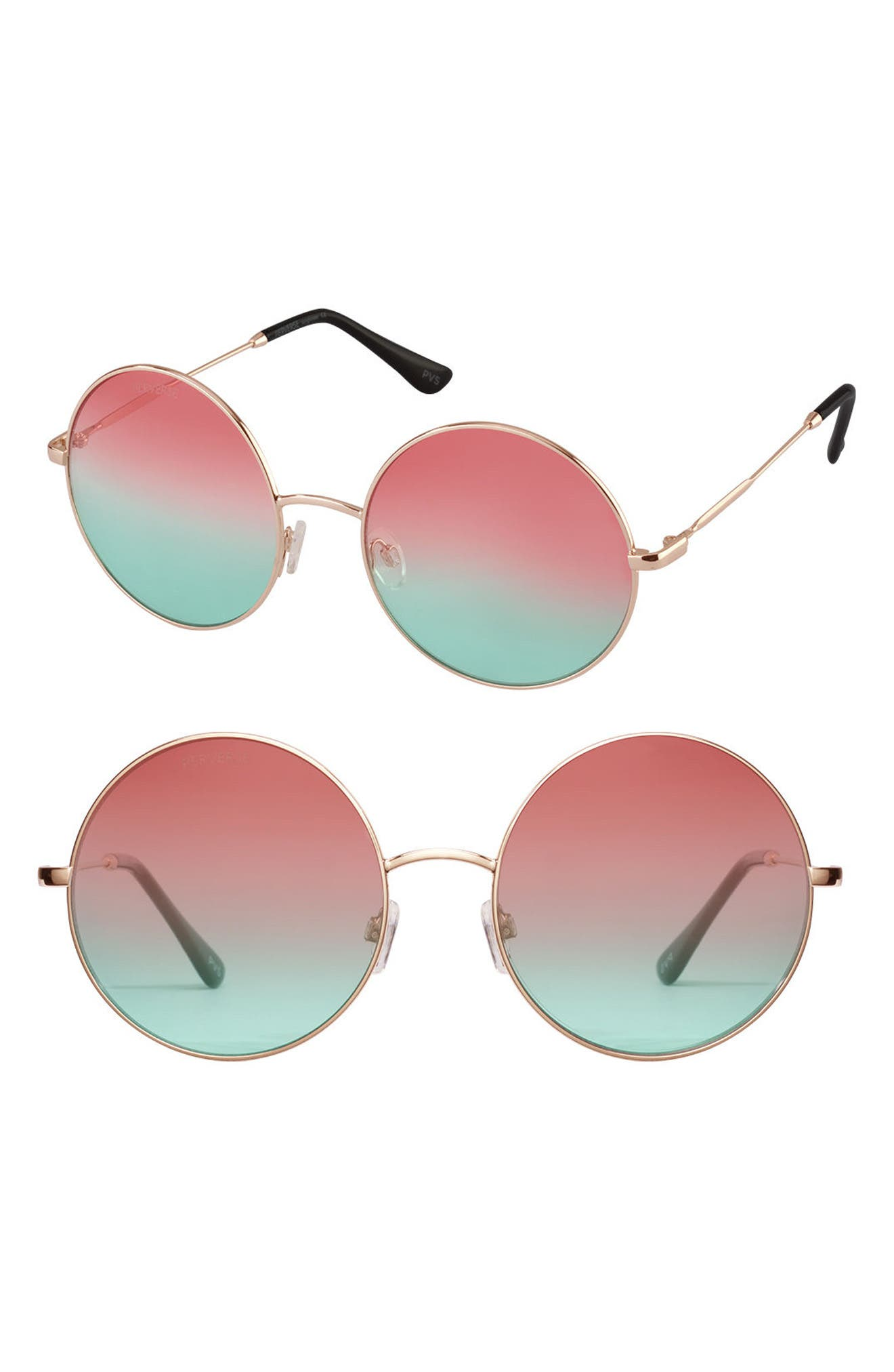 PERVERSE Half and Half Round Sunglasses