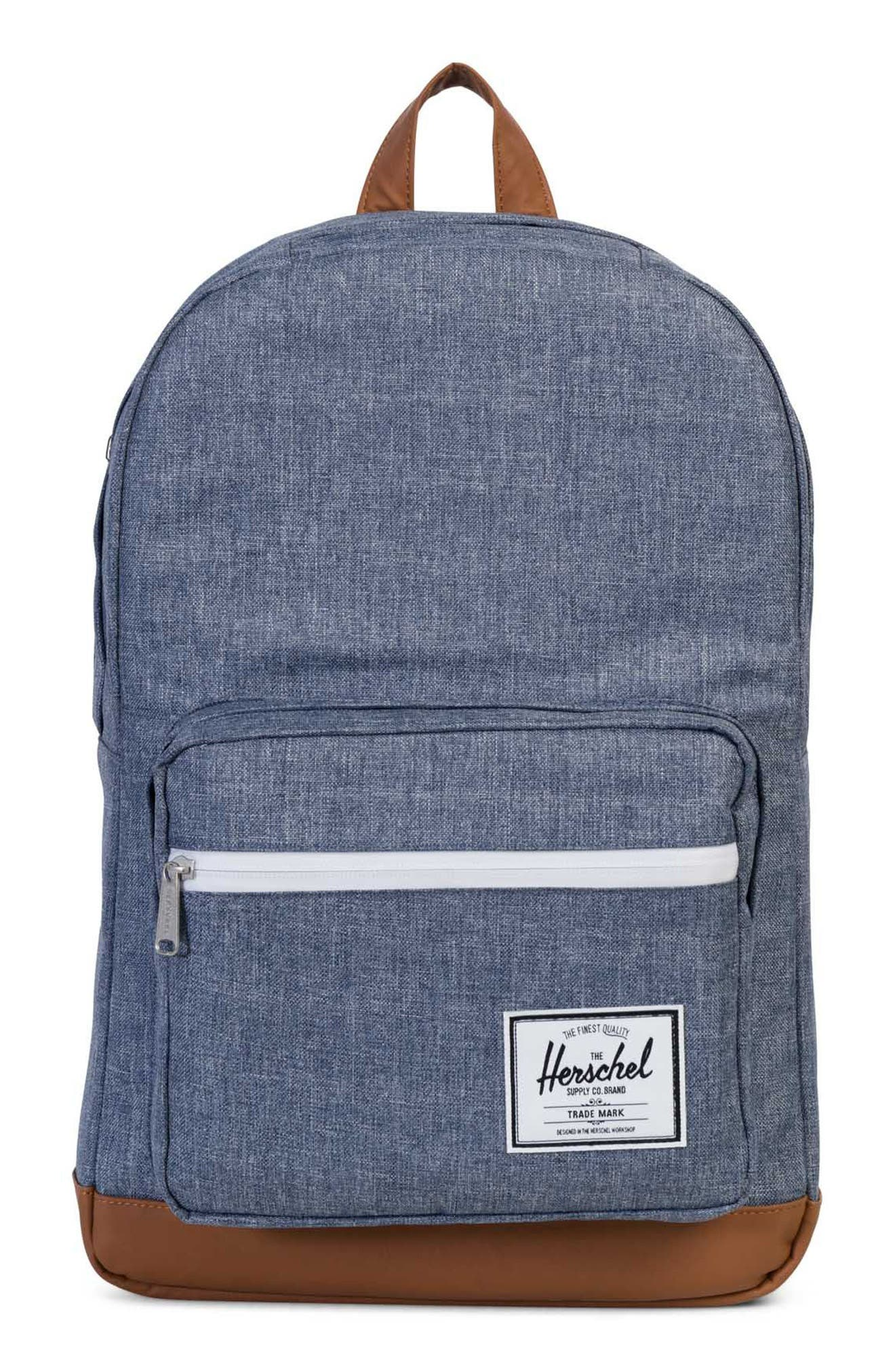 Pop Quiz Crosshatch Backpack,                             Main thumbnail 1, color,                             Dark Chambray Crosshatch