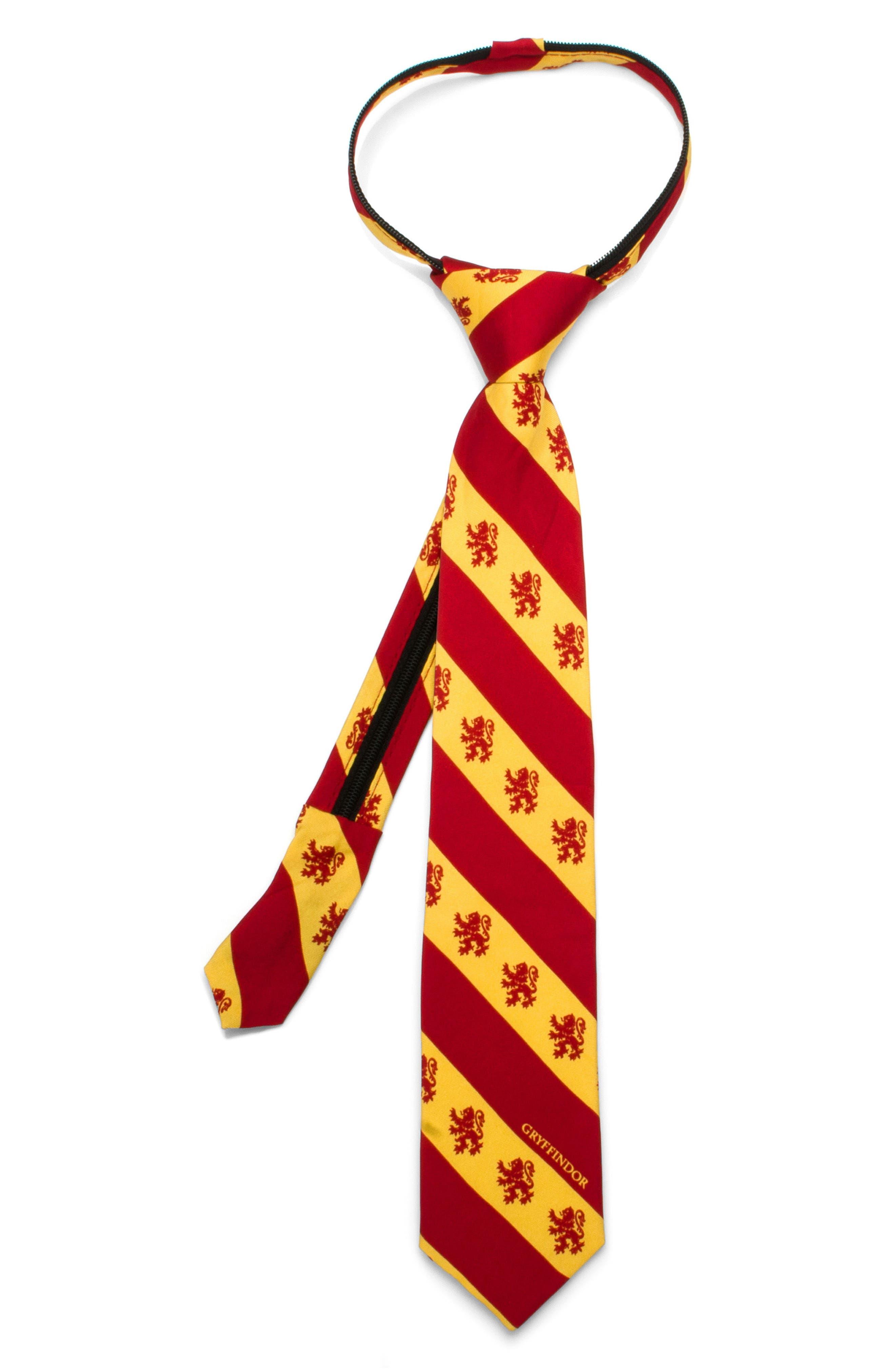 Cufflinks, Inc. Harry Potter - Gryffindor Zip Silk Tie (Boys)