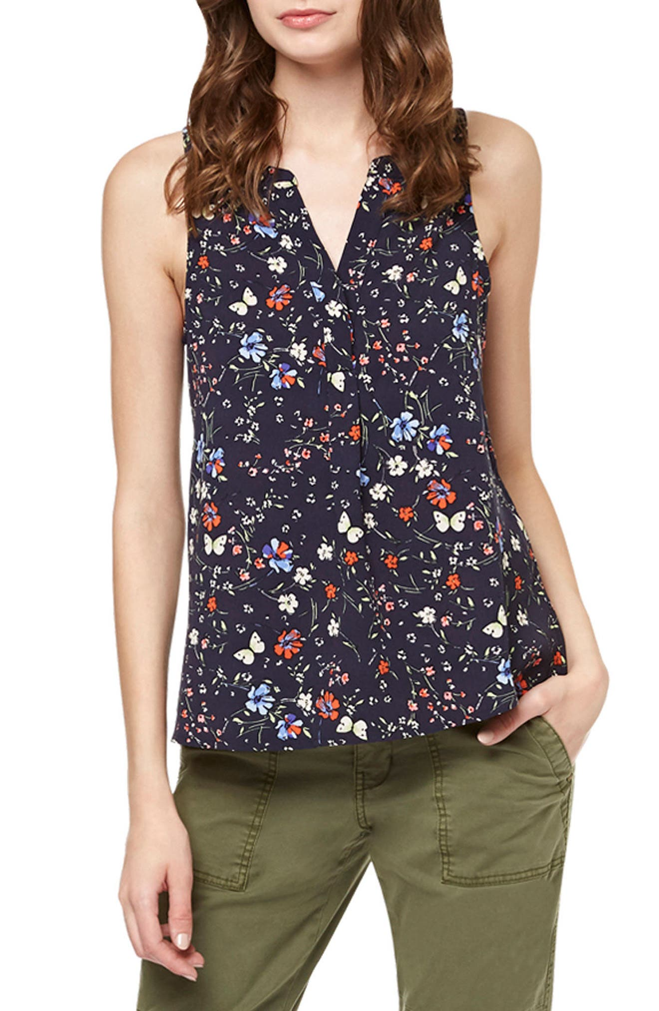 Main Image - Sanctuary Joey Floral Print Shell