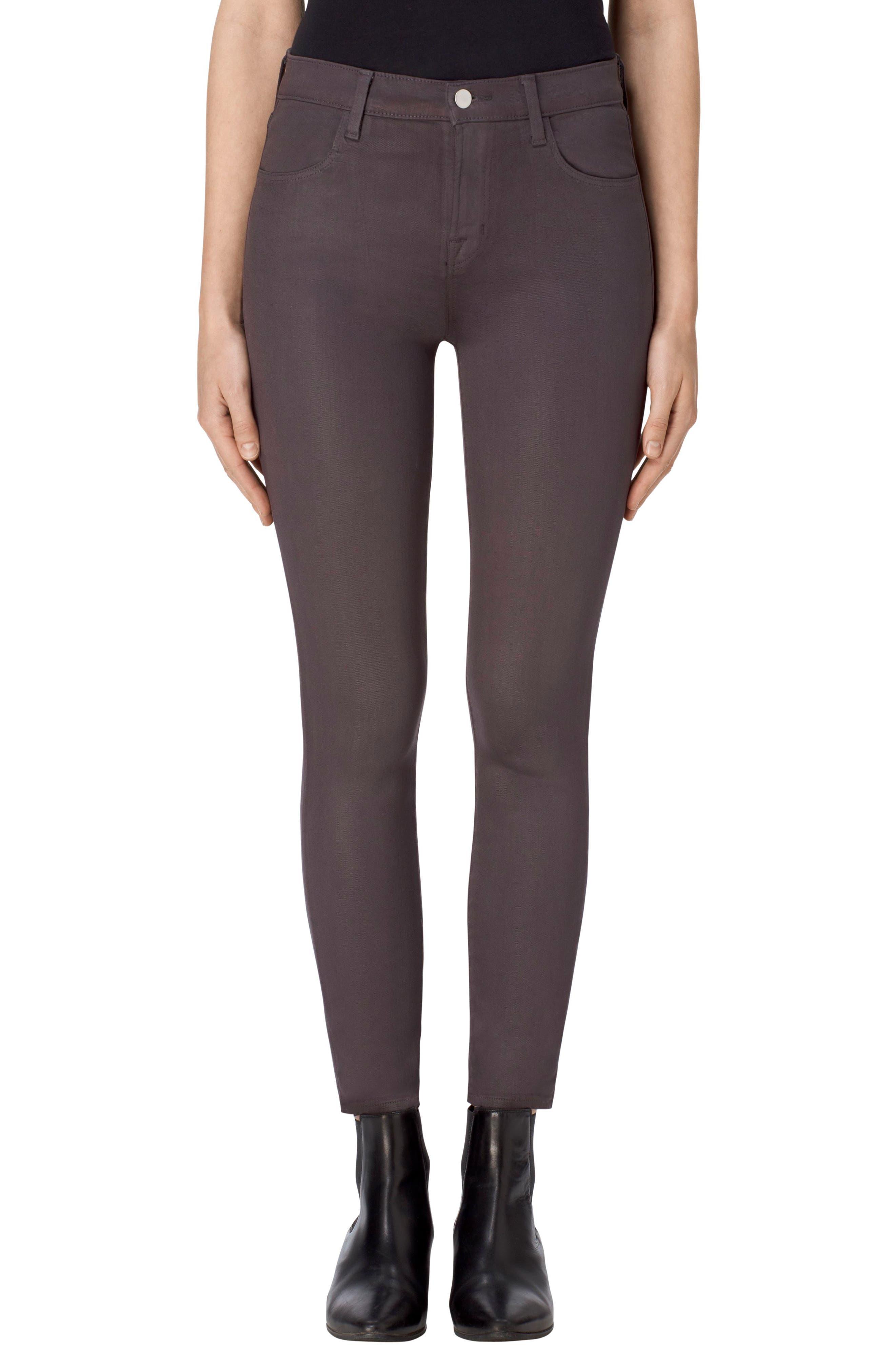 Alana High Waist Crop Skinny Jeans,                         Main,                         color, Light Coated Chrome