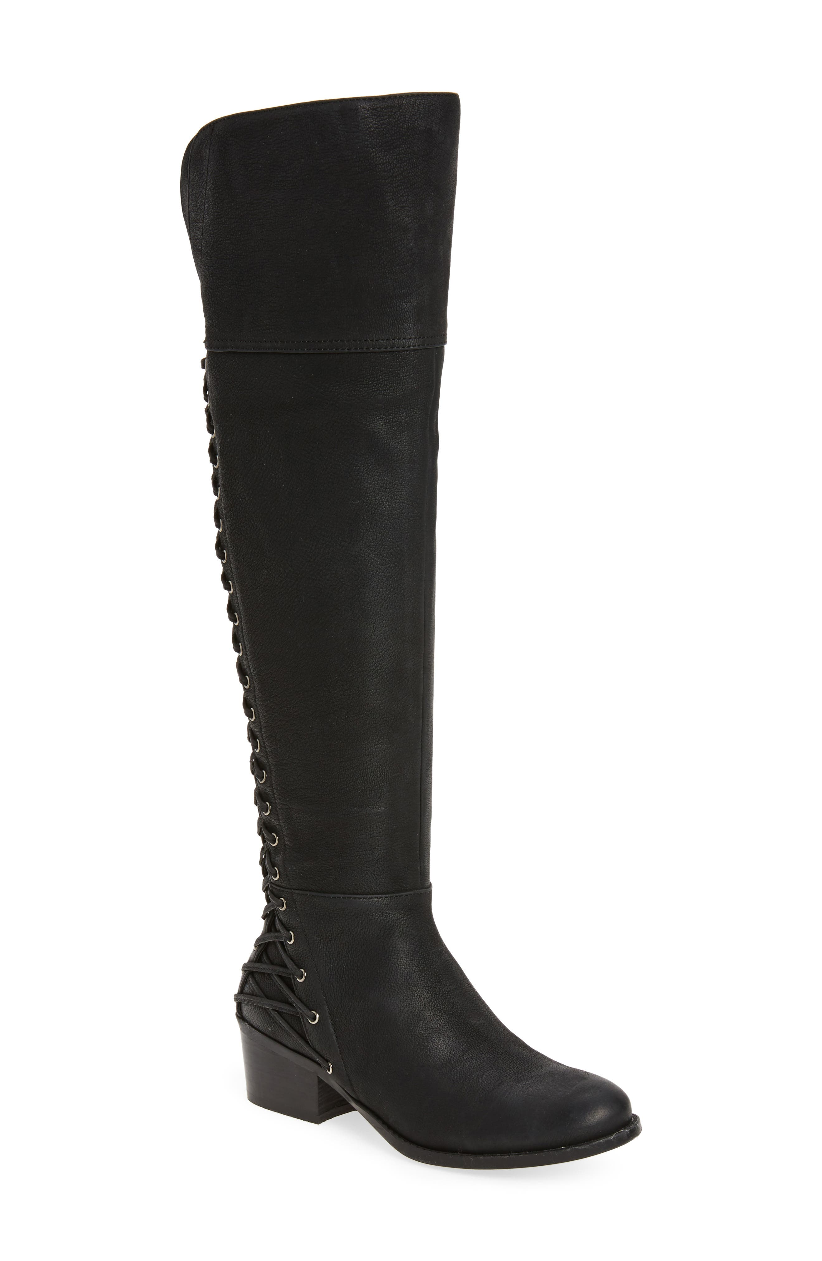 Bolina Over the Knee Boot,                             Main thumbnail 1, color,                             Black